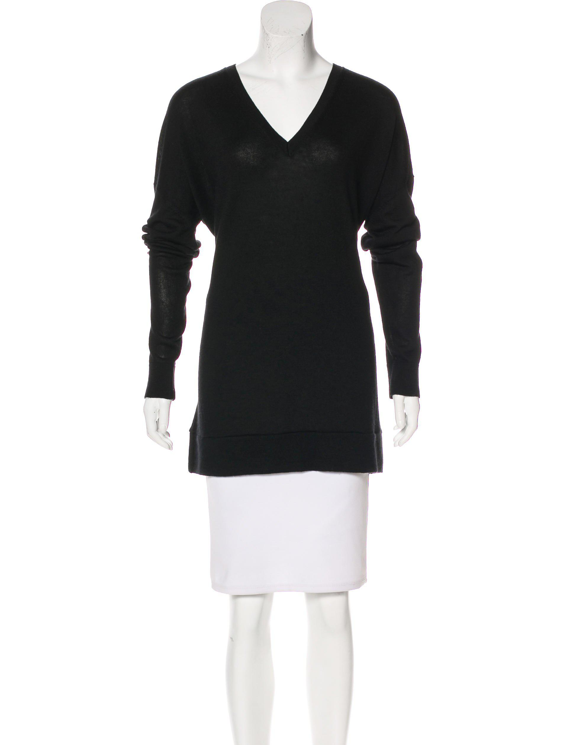 The row Oversize V-neck Sweater in Black | Lyst