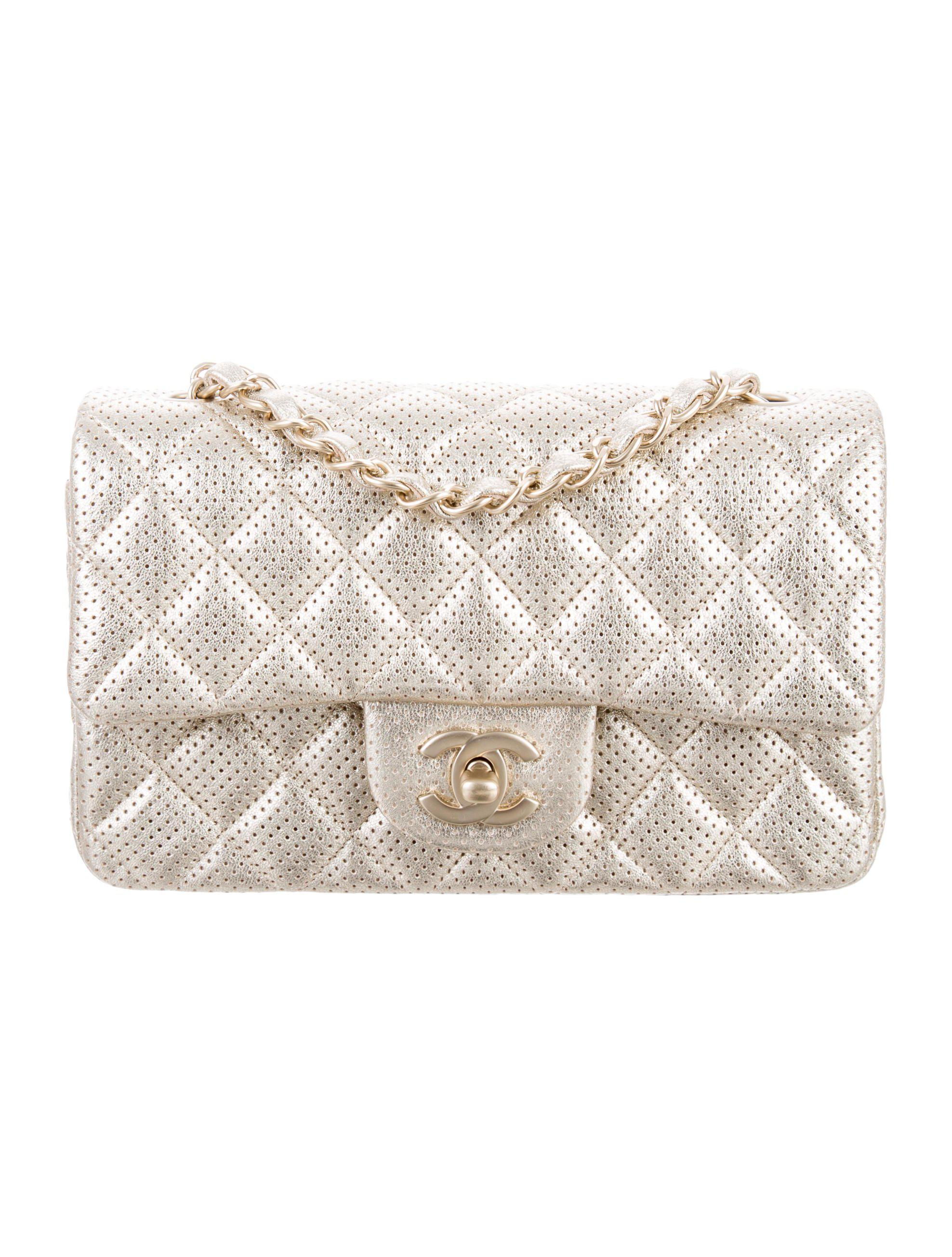Lyst - Chanel 2015 Perforated Classic New Mini Single Flap Bag in ... 4145dcec8f0b3