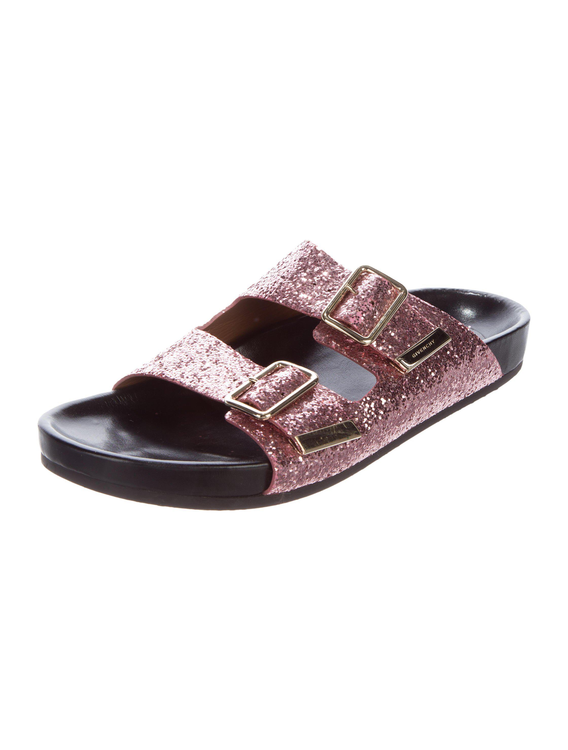 free shipping official site cheap price wholesale Givenchy Glitter Slide Sandals cheap sale under $60 discount visa payment outlet where can you find rJLMyac