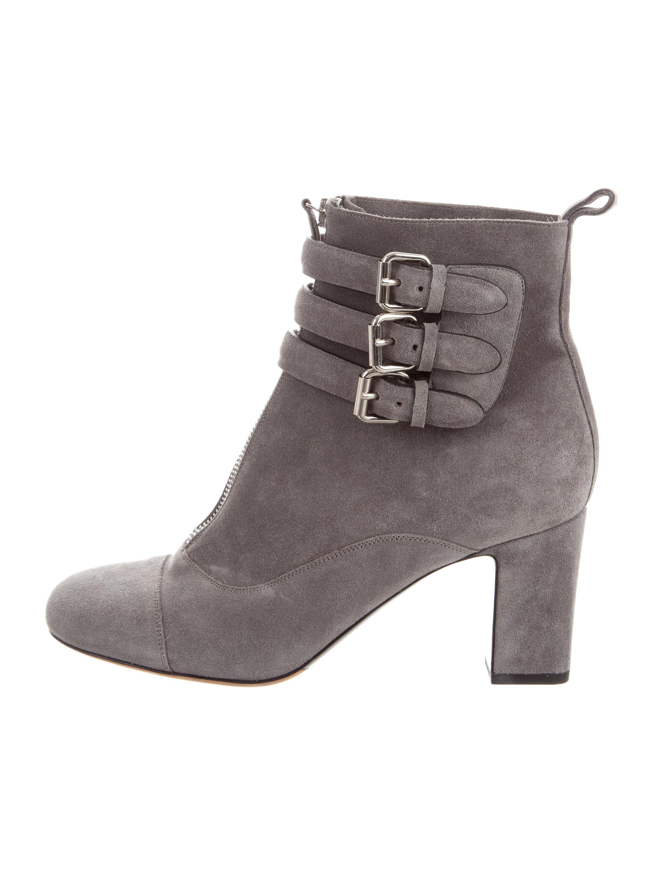 clearance 100% guaranteed buy cheap for nice Tabitha Simmons Suede Buckle-Accented Ankle Boots 96pOUBr