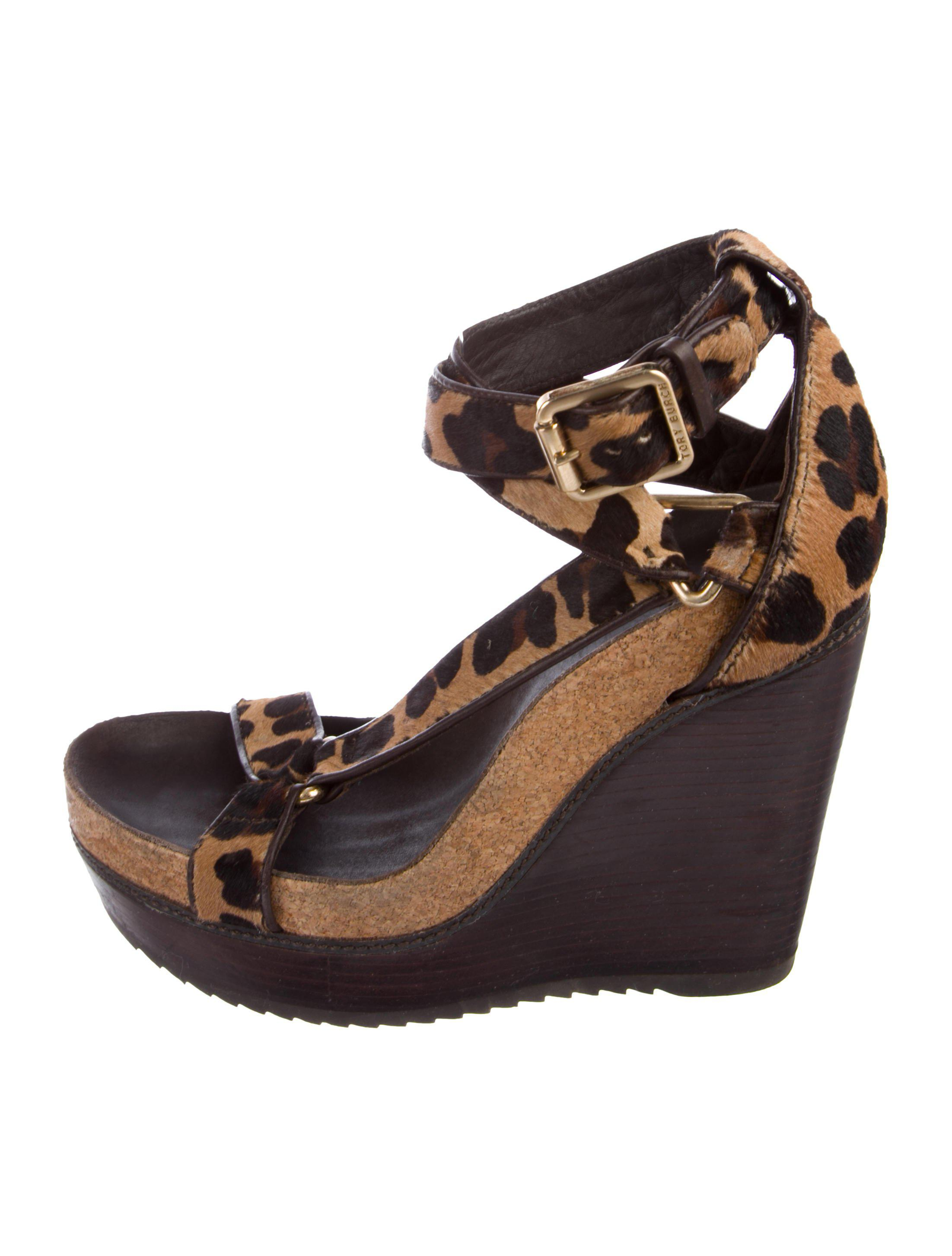 7f0bf0d6da72 Tory Burch - Natural Leather Brenden Wedges Brown - Lyst. View fullscreen