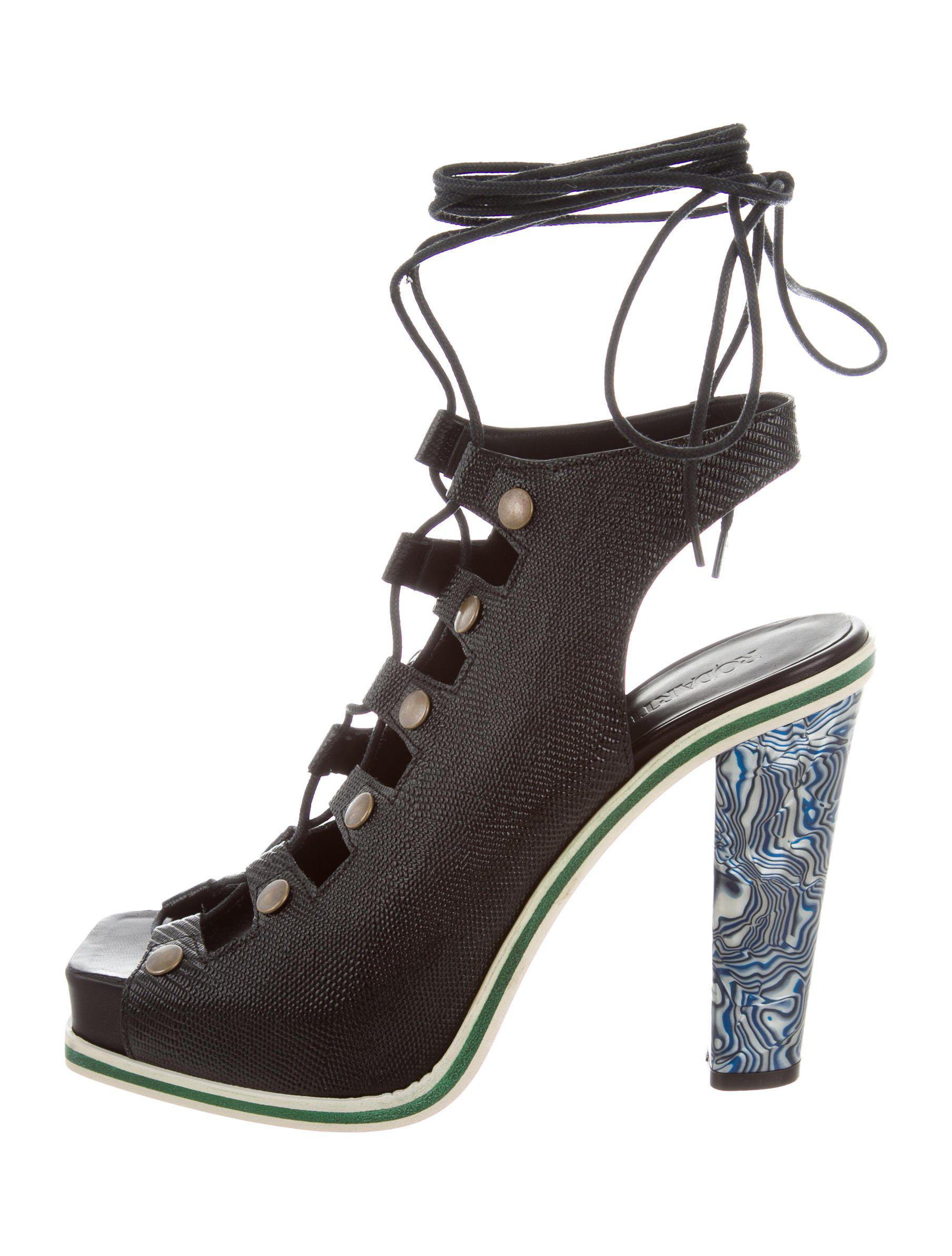 Rodarte 2015 Lace-Up Platform Sandals w/ Tags free shipping best prices for sale cheap authentic outlet 2015 XjxQYw1xIw
