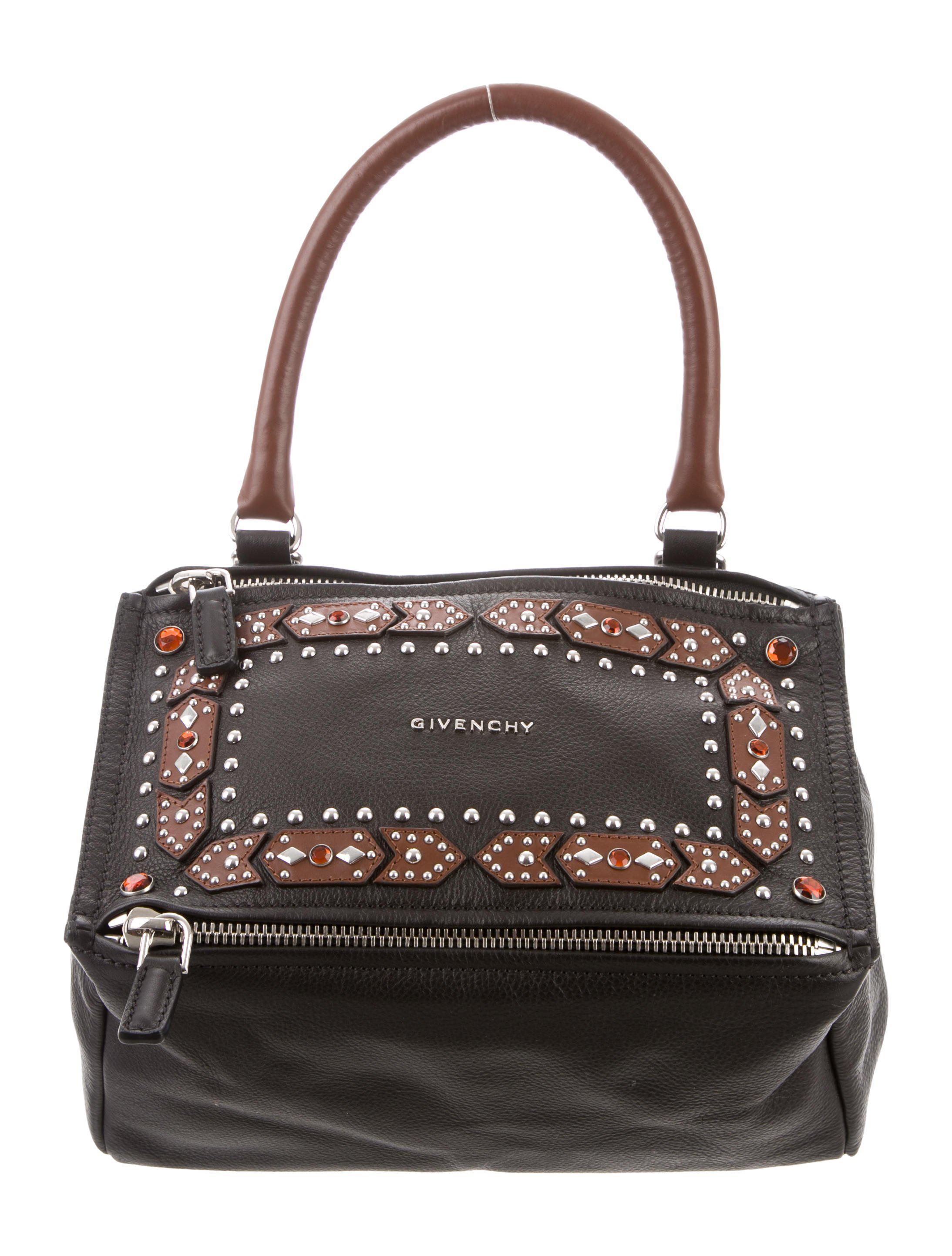 e07e56ab26 Lyst - Givenchy Pandora Studded Satchel Black in Metallic