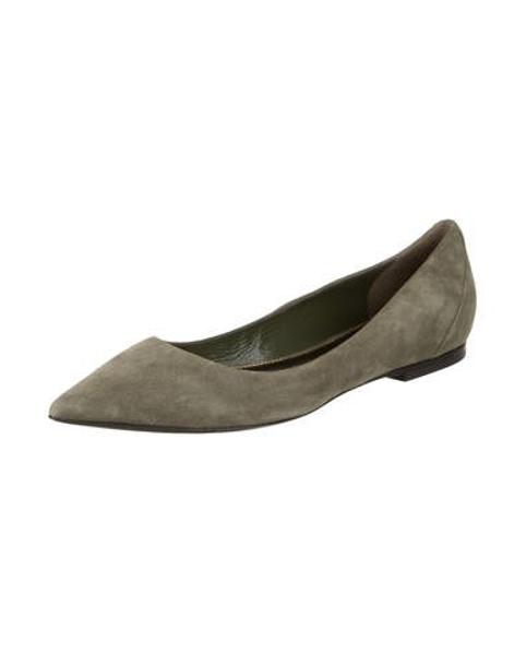 0f3e6b19cbd Tom Ford - Green Suede Pointed-toe Flats Olive - Lyst. View fullscreen