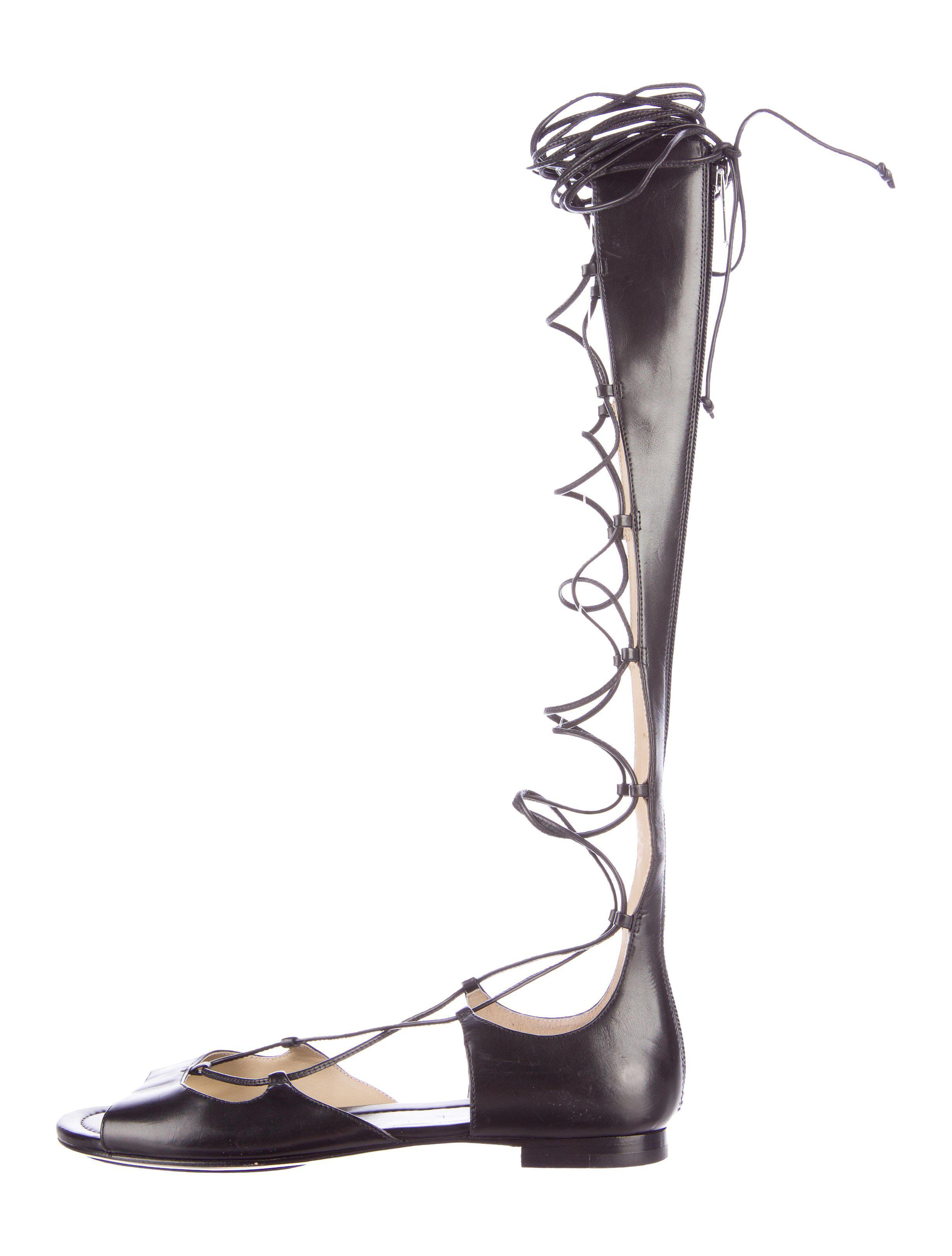 baeca2dc78e4 Lyst - Michael Kors Birdie Gladiator Sandals in Black