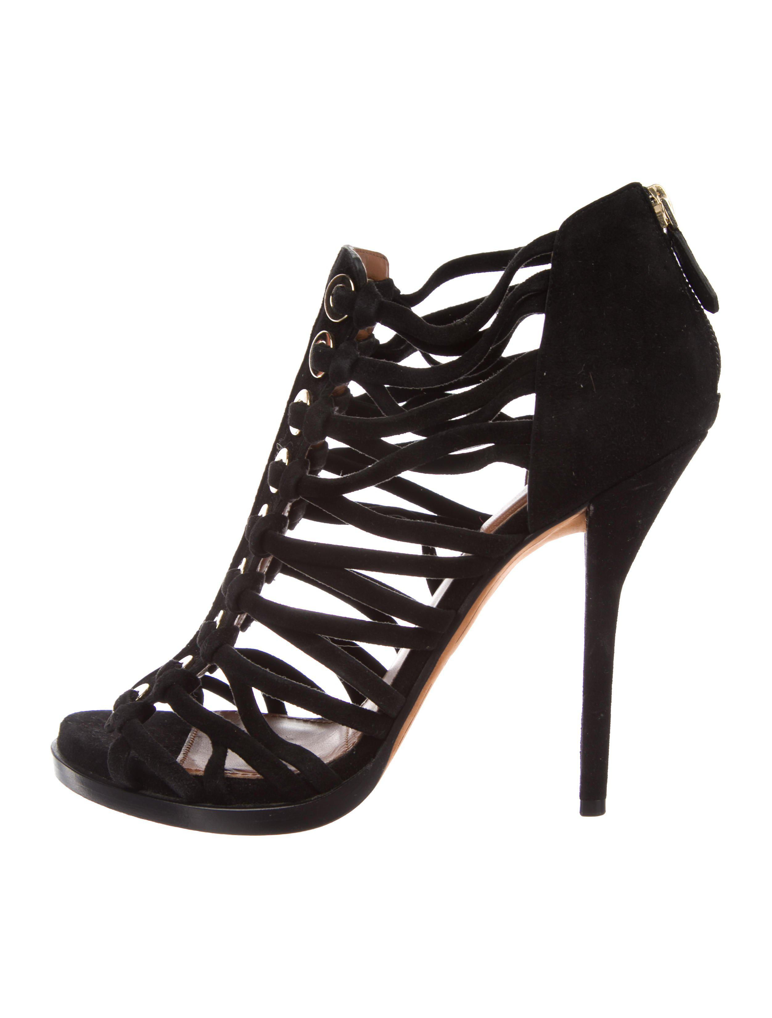 best store to get in China cheap online Givenchy Suede Cage Sandals w/ Tags clearance best sale 100% original buy cheap recommend VCsx3s2