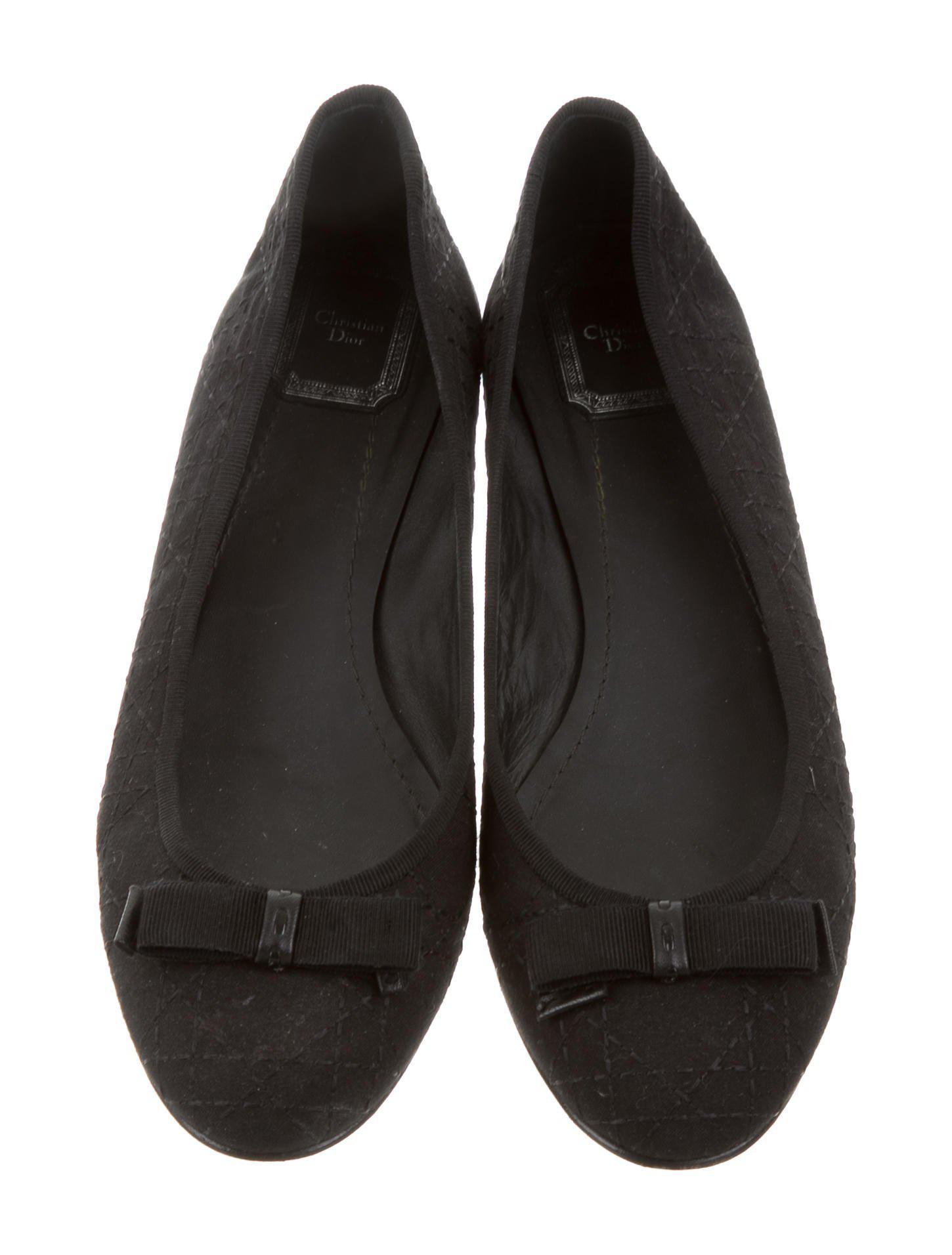 b9a8cc3fc83dd5 Lyst - Dior Woven Cannage Flats in Black