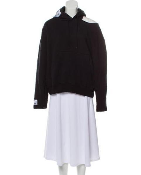022fb5f8a6342b Vetements. Women s Black 2018 Open Shoulder Long Sleeve Hooded Sweatshirt