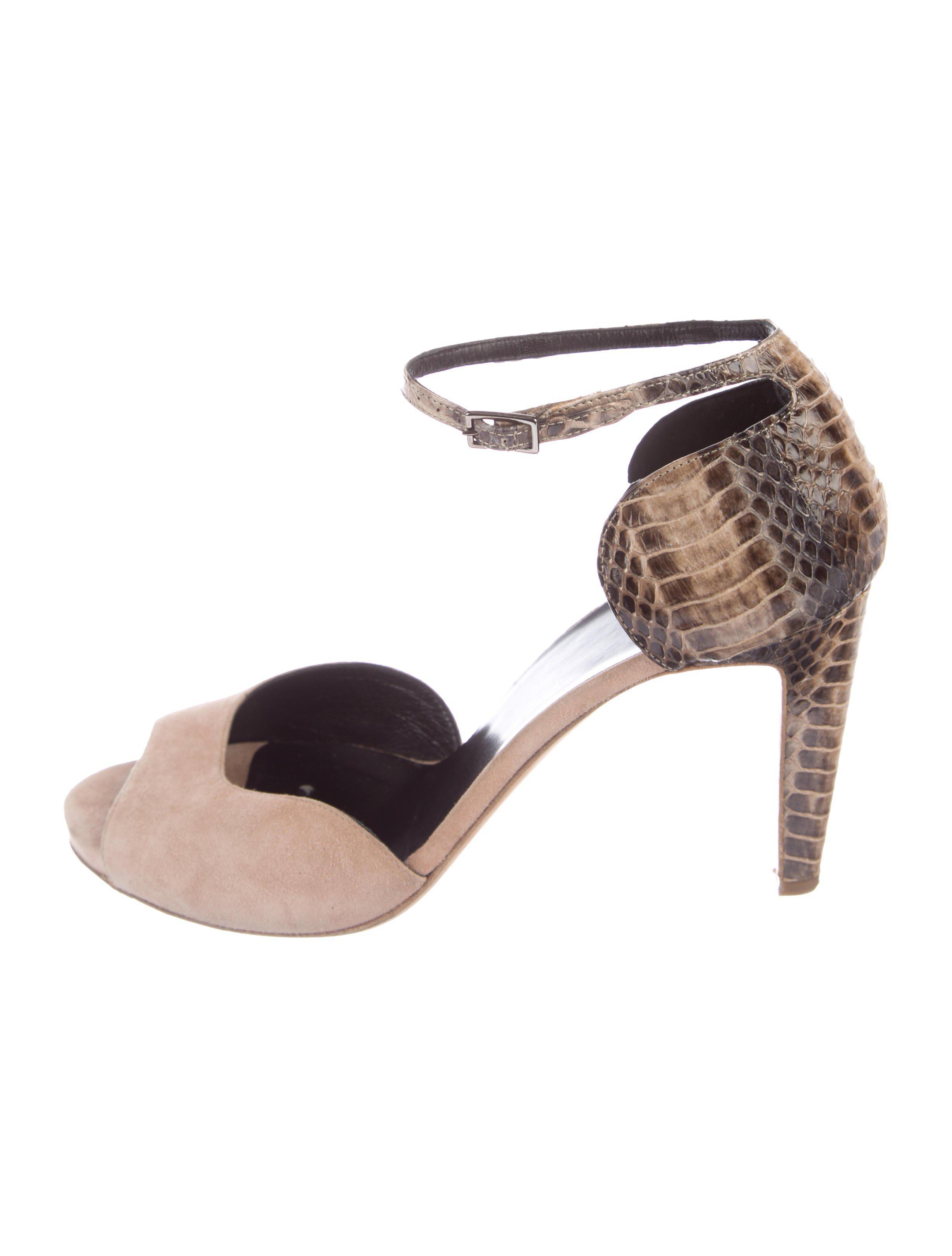 ca1b31679f8 Lyst - Pierre Hardy Snakeskin   Suede Sandals