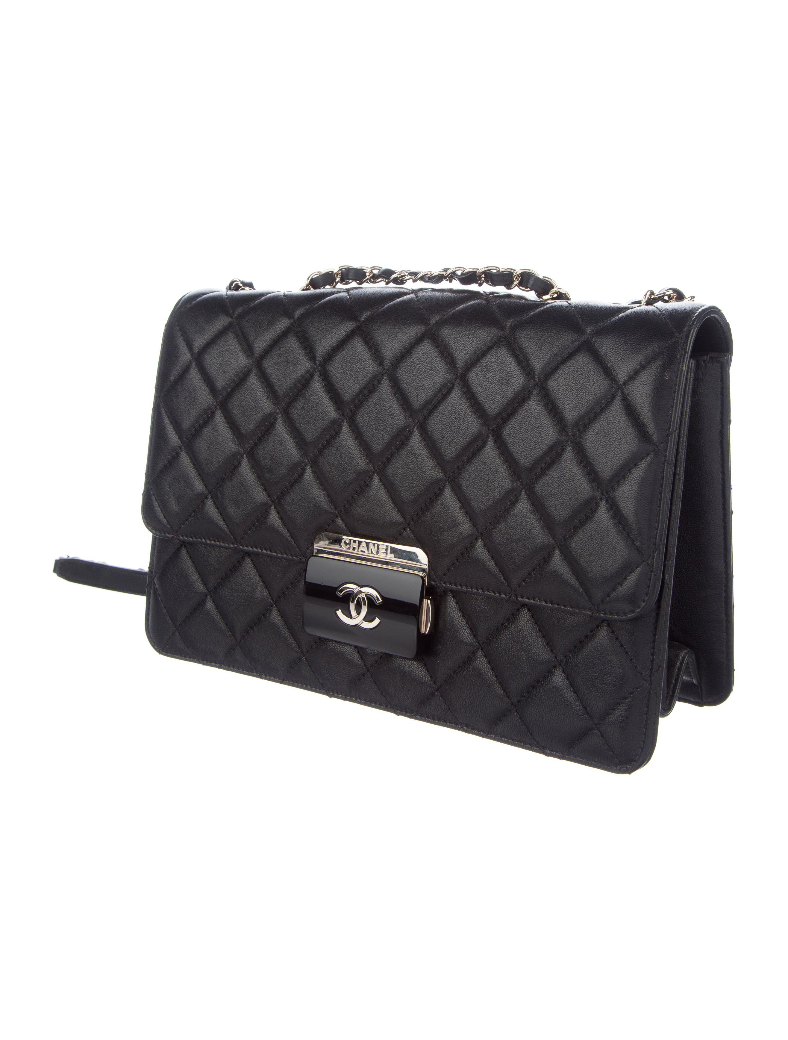 0b8950c51120 Lyst - Chanel 2017 Large Beauty Lock Flap Bag Black in Metallic