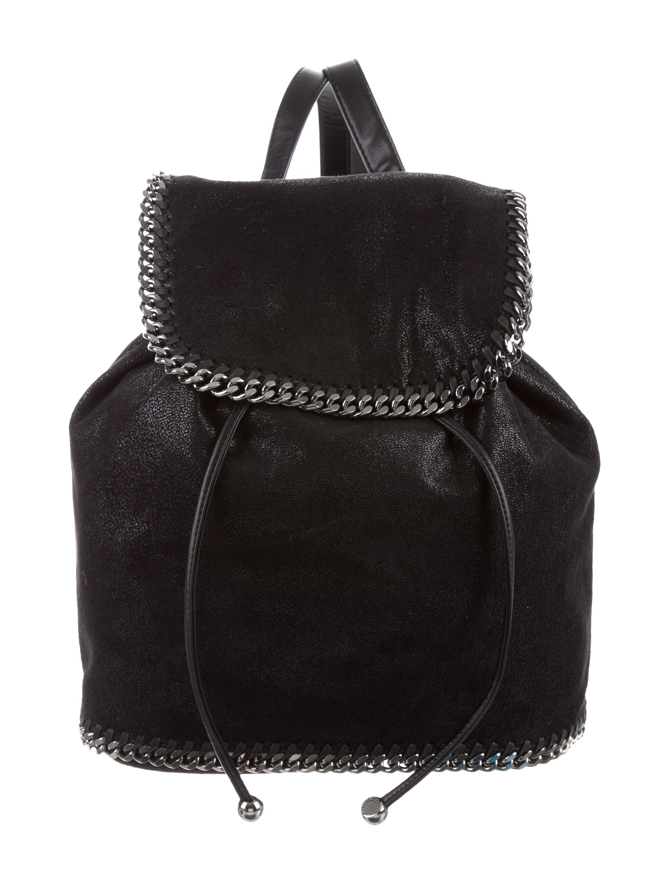 2fdcfbdb793b Lyst - Stella Mccartney Falabella Shaggy Deer Backpack in Black