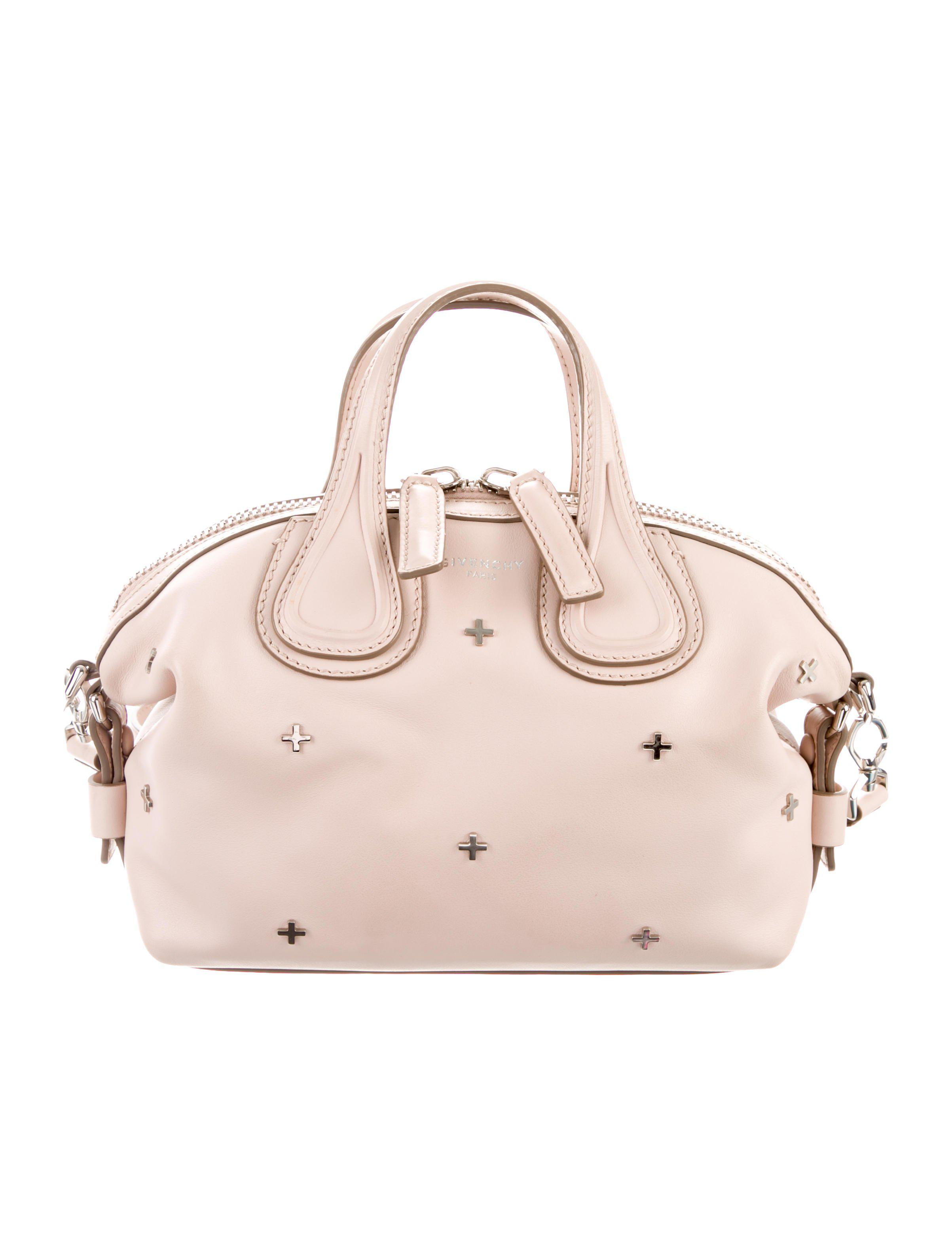 5fa02bb9a359 Lyst - Givenchy Micro Nightingale Satchel Pink in Metallic