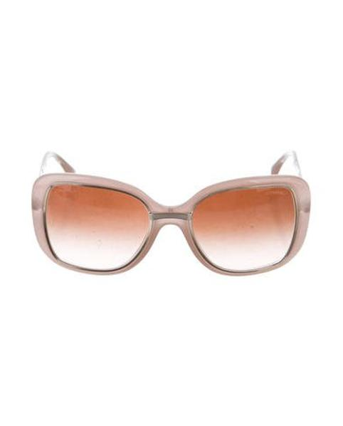 8676cf3993823 Lyst - Chanel Square Gradient Sunglasses Silver in Metallic