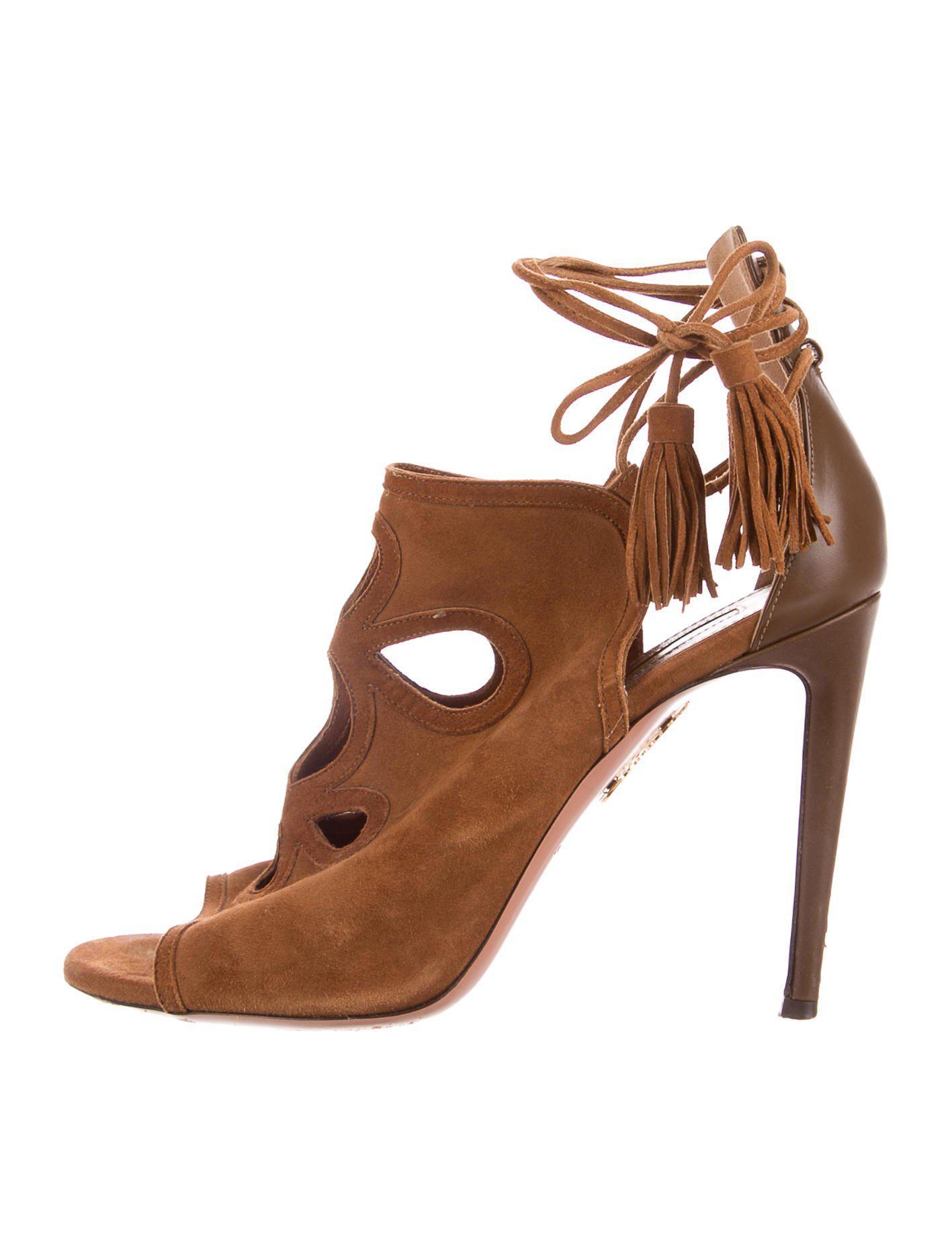 Aquazzura Get Me Everywhere Cutout Sandals cheap prices bMiuNos