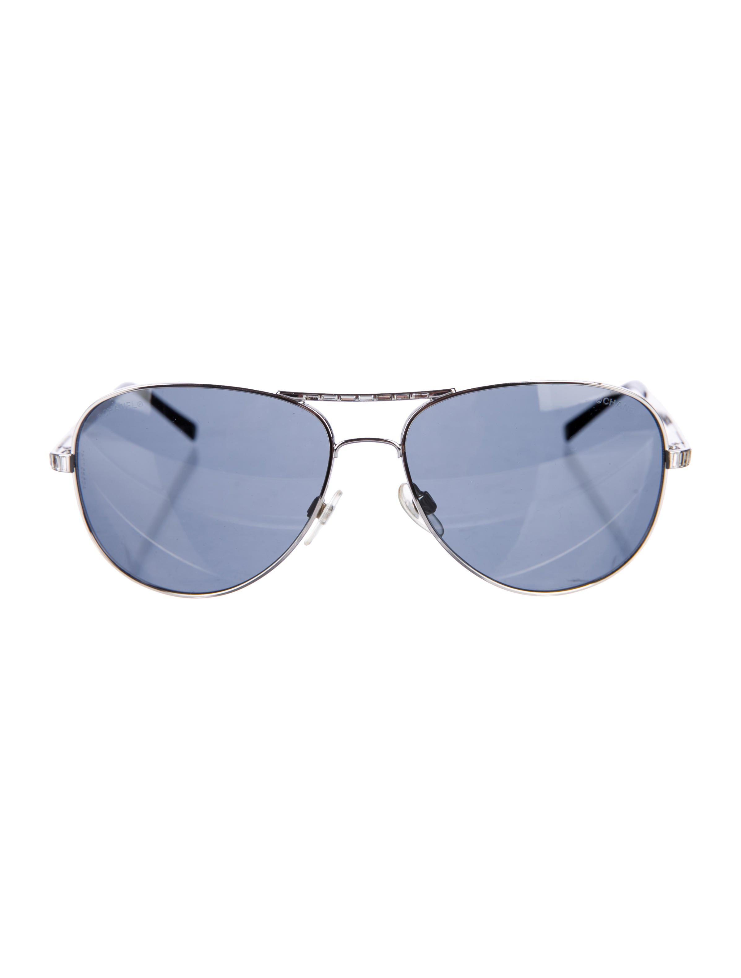 Chanel Quilted Aviator Sunglasses Shabooms
