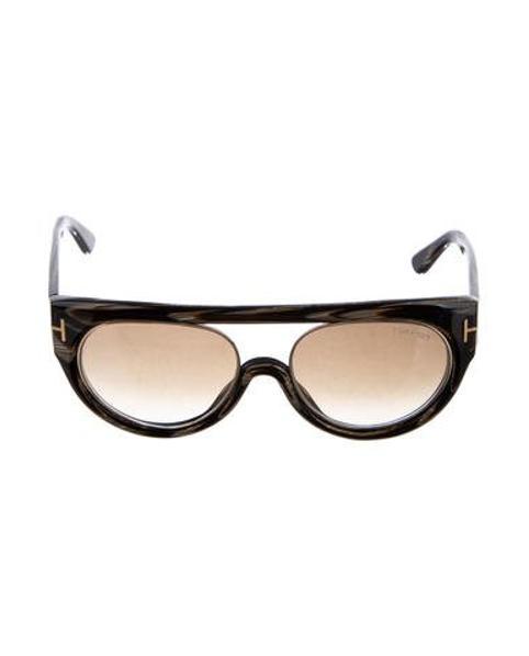 1f8261a2db9b2 Lyst - Tom Ford Alana Oversize Sunglasses W  Tags Brown in Metallic
