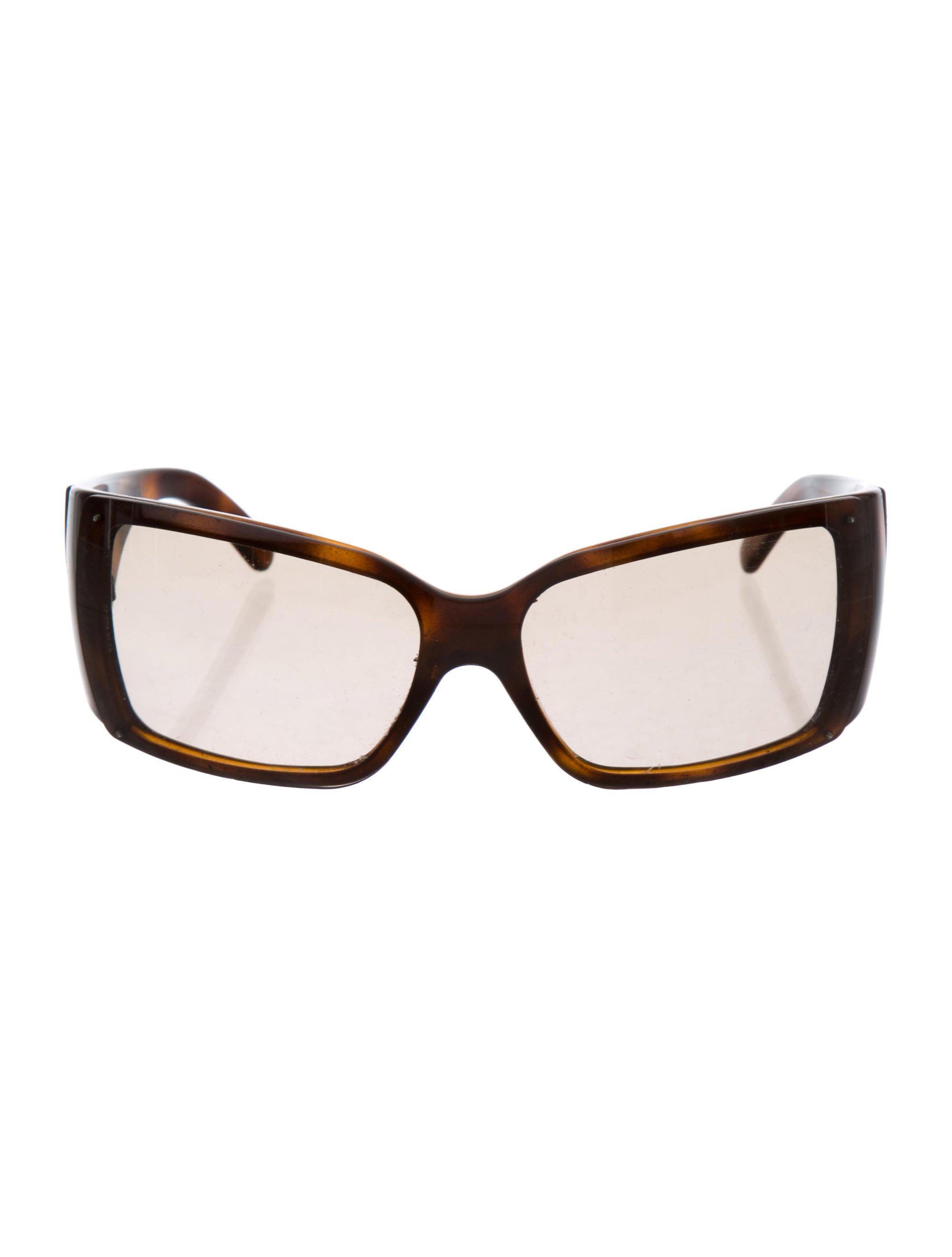a00ecd474e Lyst - Chanel Shield Tinted Sunglasses Brown in Metallic