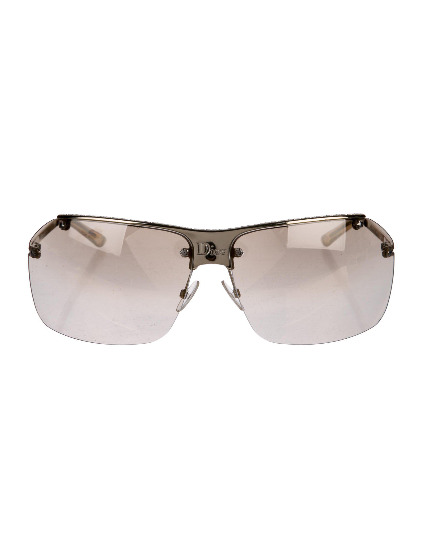 370f716502a23 Lyst - Dior Hit Half-rim Sunglasses Gold in Metallic