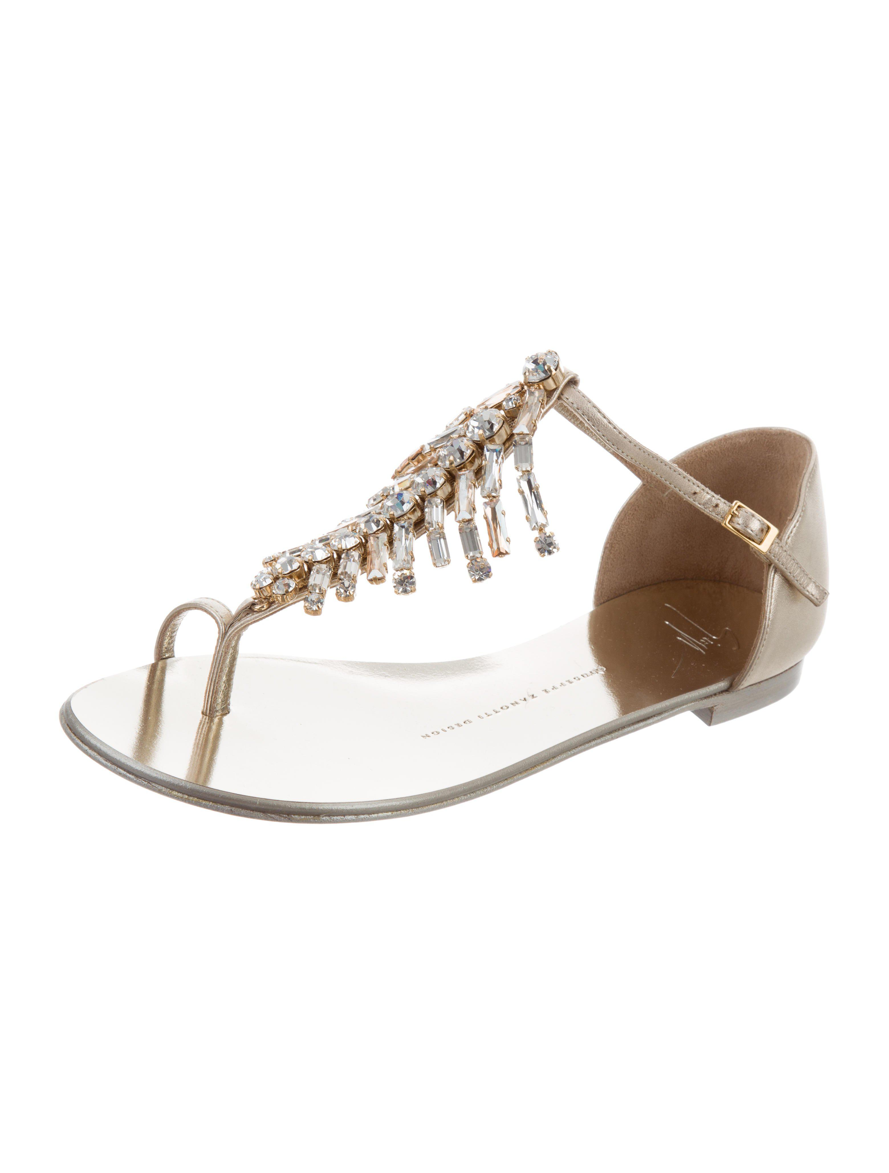 Giuseppe Zanotti Embellished Metallic Sandals w/ Tags cheap get authentic free shipping genuine cheap sale free shipping where can i order iPBkCU