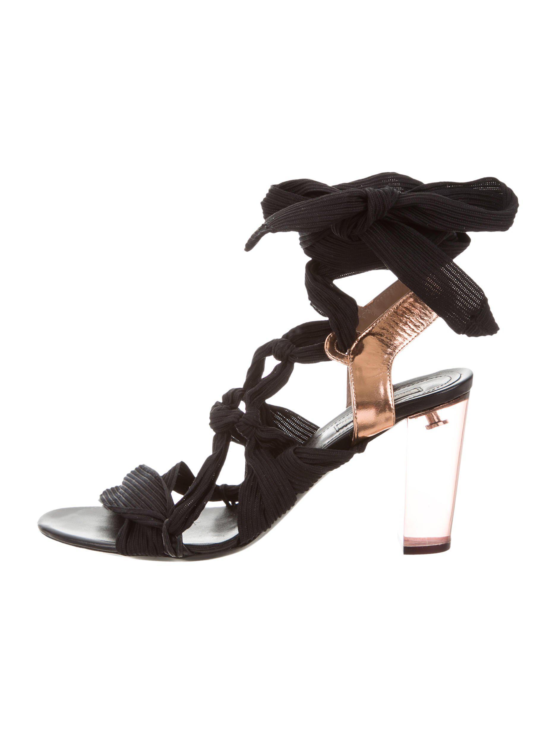 authentic sale online the cheapest cheap price Dries Van Noten Suede Wrap-Around Sandals cheap sale perfect discount best RATb5LOD