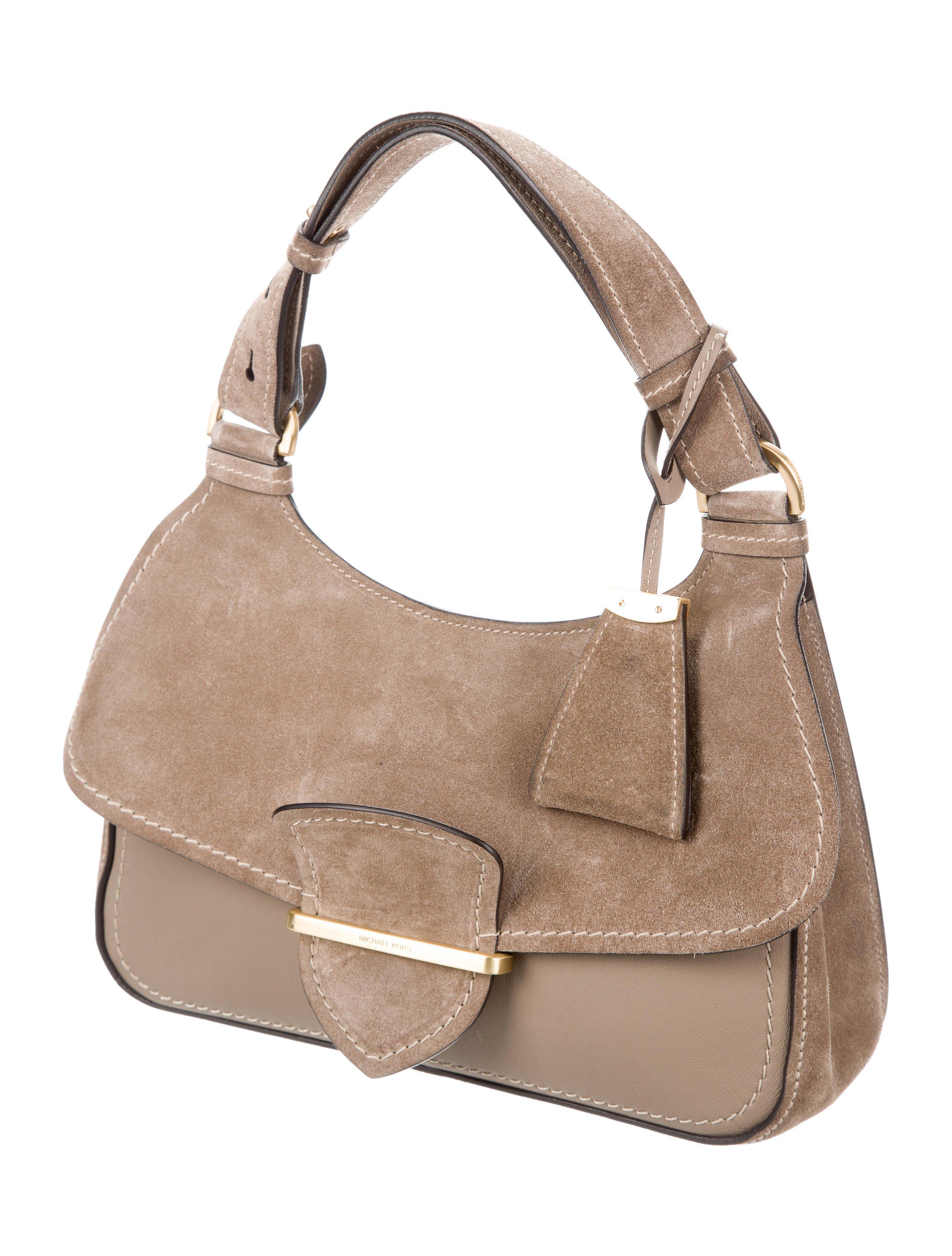 70f7b64c4f Lyst - Michael Kors Medium Josie Bag Grey in Metallic