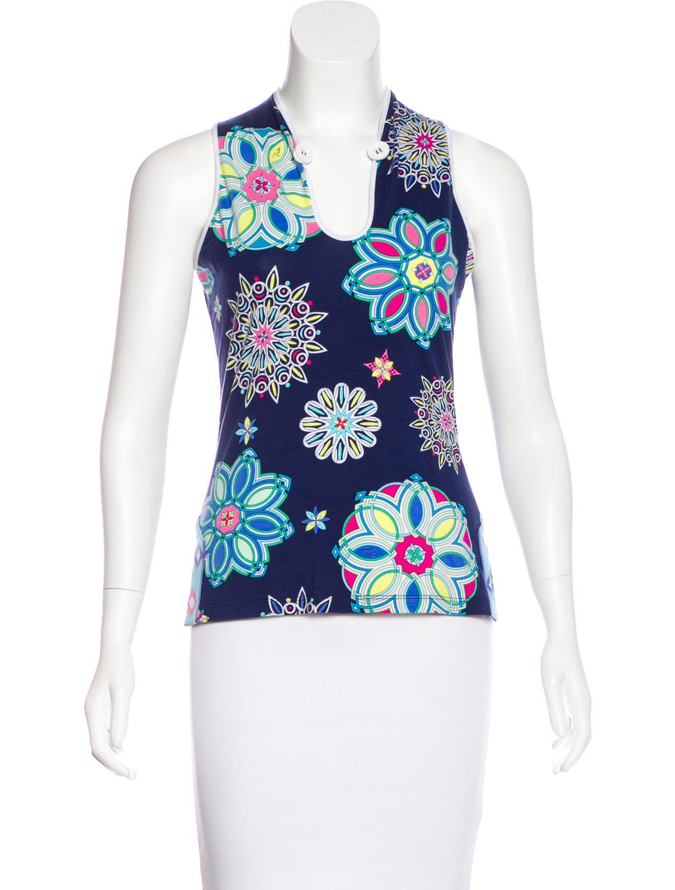 Cheap Price In China Emilio Pucci printed sleeveless shirt Cheap Sale Pay With Visa RFyXOoD