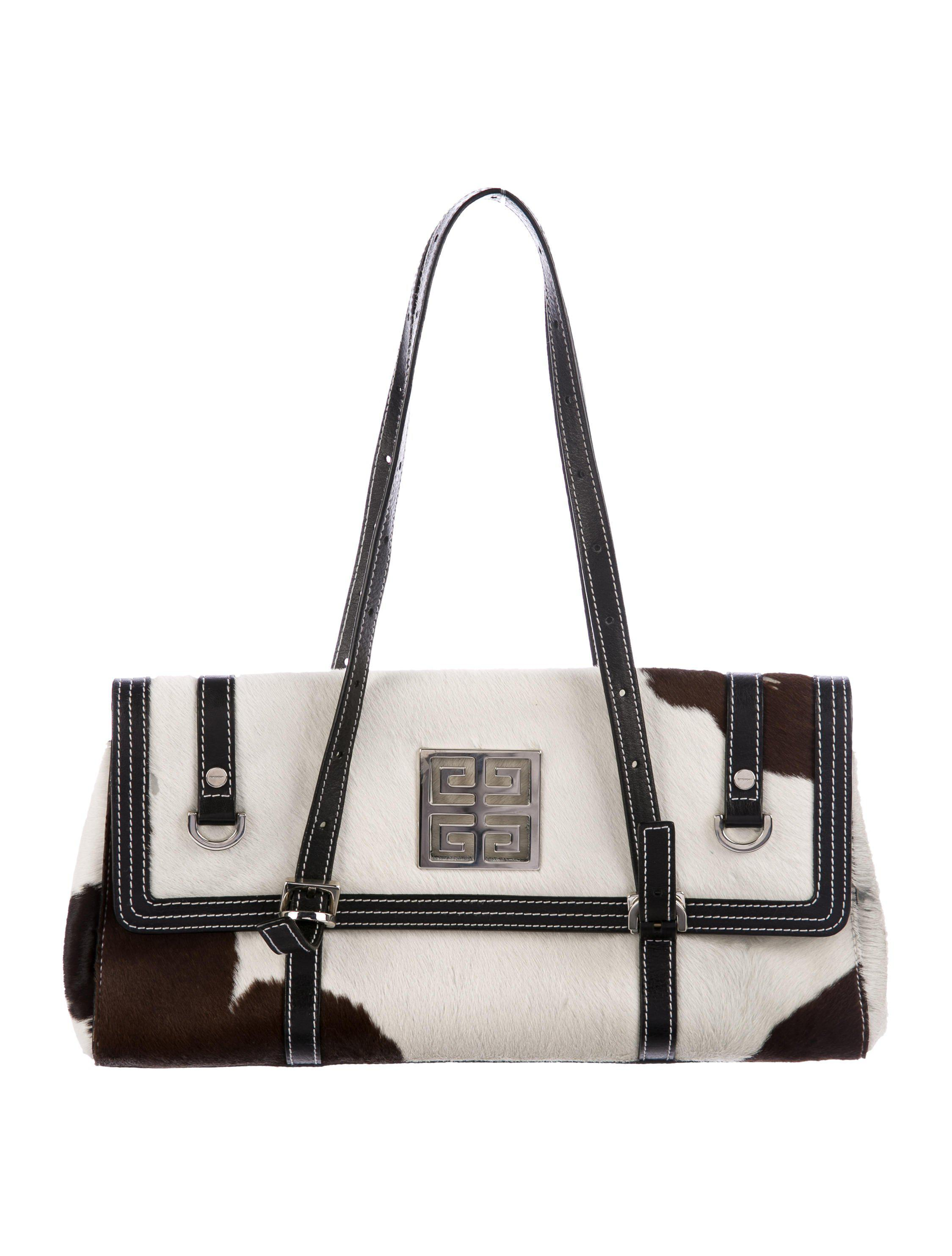 26fc5a697d50 Lyst - Givenchy Ponyhair Shoulder Bag Brown in Metallic