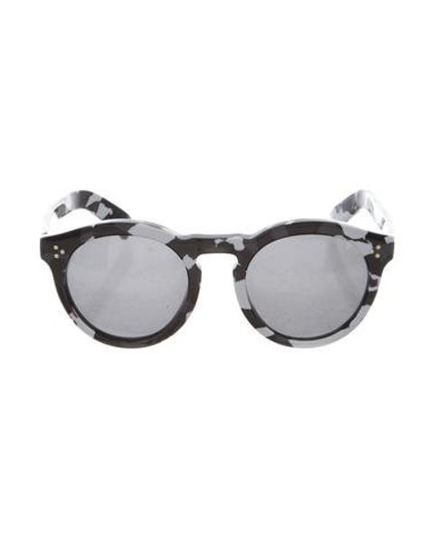 b5f276f1ff9c5 Lyst - Illesteva Leonard 2 Round Sunglasses Black in Gray for Men