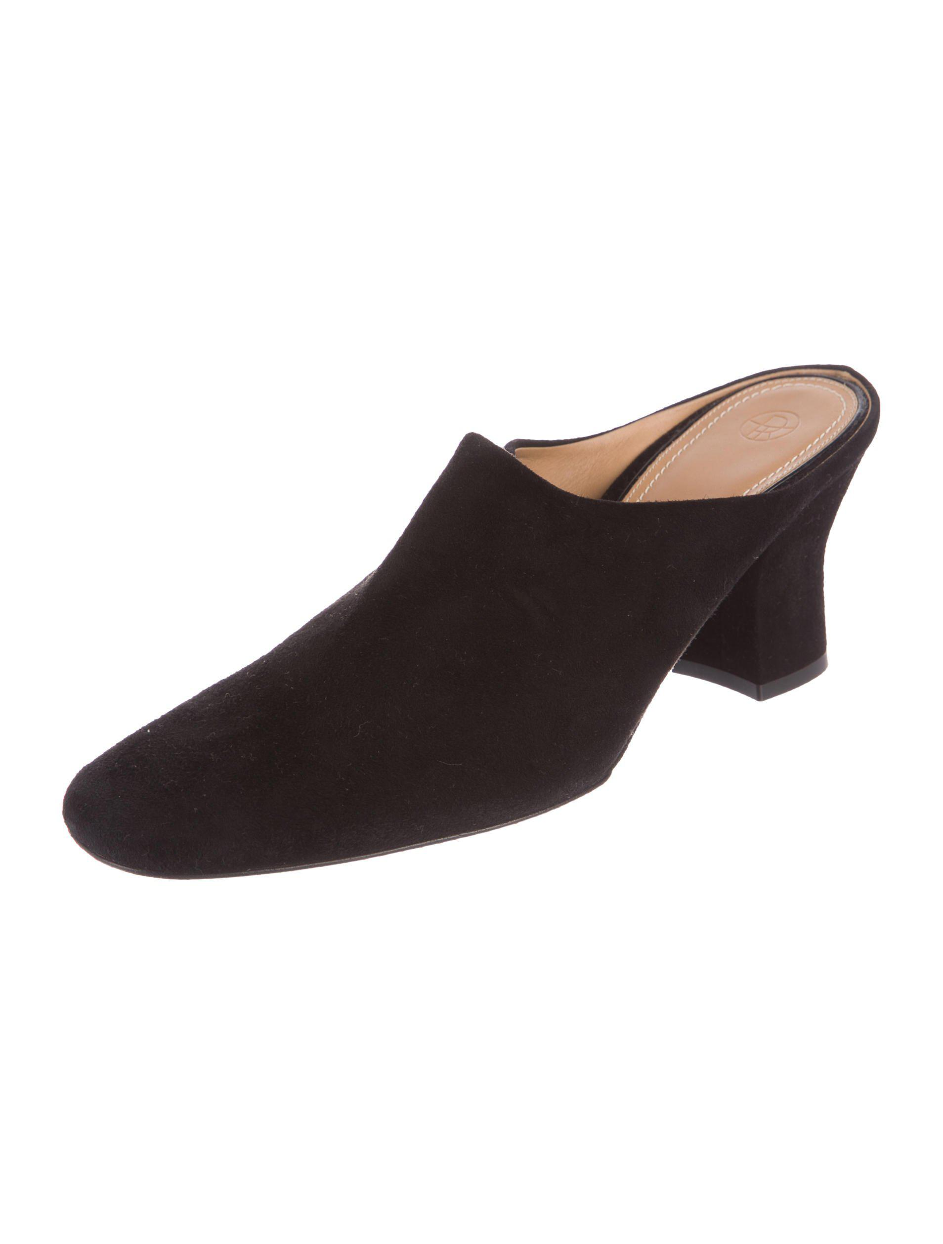 The Row Leather Round-Toe Mules visit new online pick a best for sale cheap USA stockist best store to get sale online 8ctiVc0T