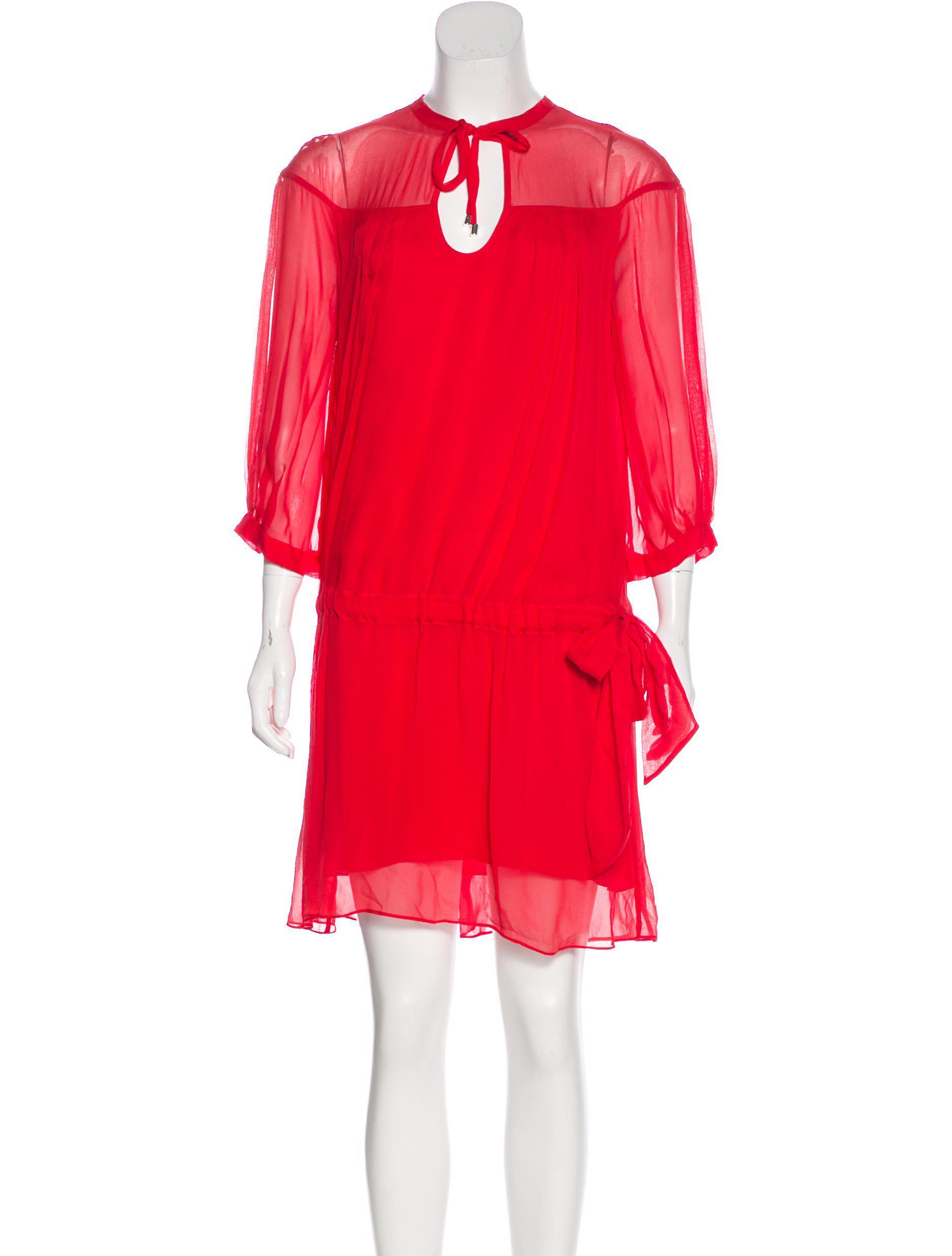 1cb85b9ee8c5f Lyst - Diane Von Furstenberg New Desma Silk Dress in Red