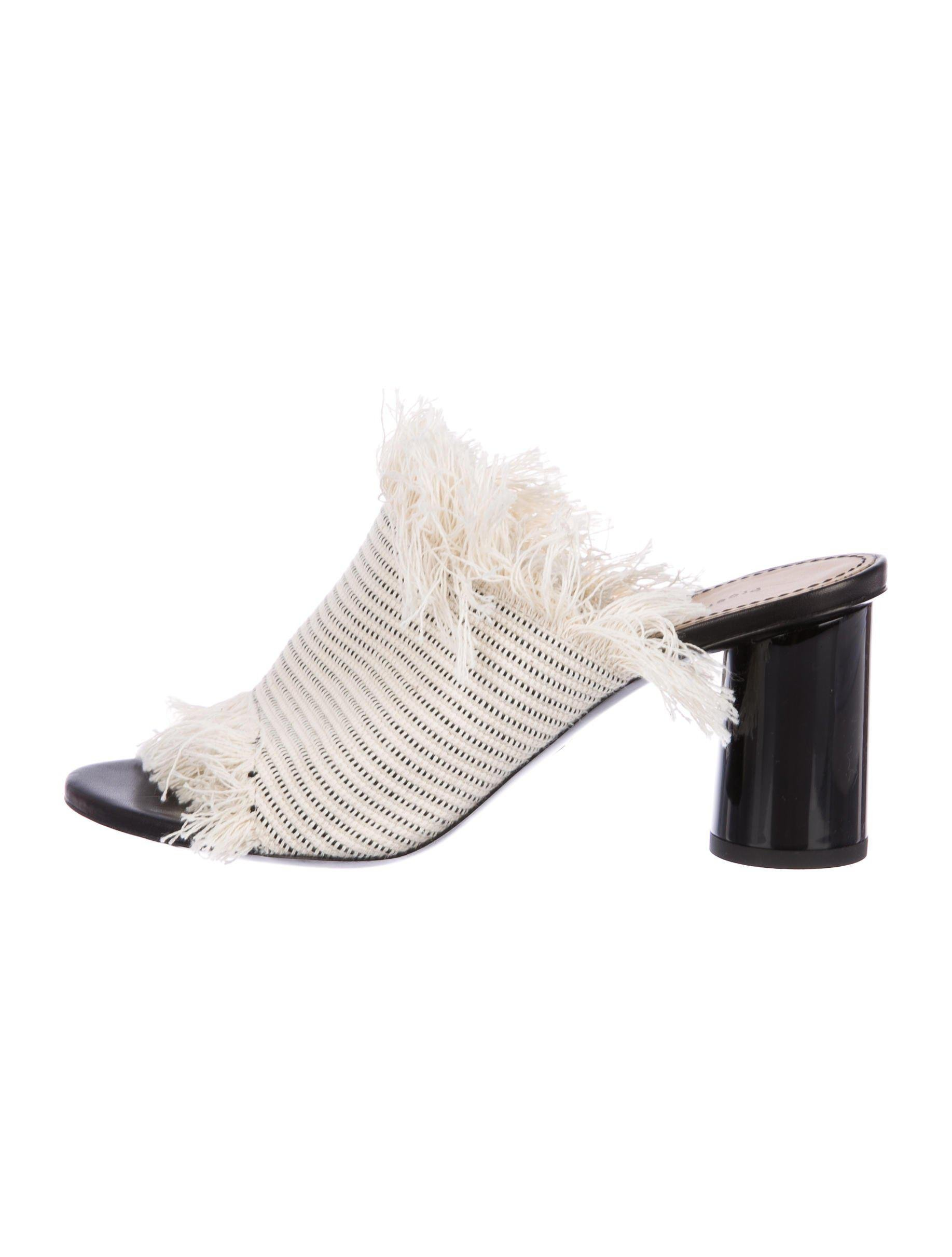 Proenza Schouler Fringe-Trimmed Slide Sandals clearance online clearance cheap price discounts A0hQGAX
