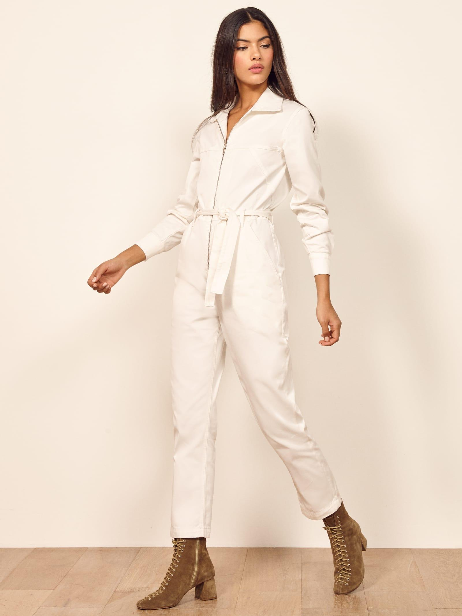 0c1c92b3cc6 Lyst - Reformation Ricky Boiler Jumpsuit in Natural