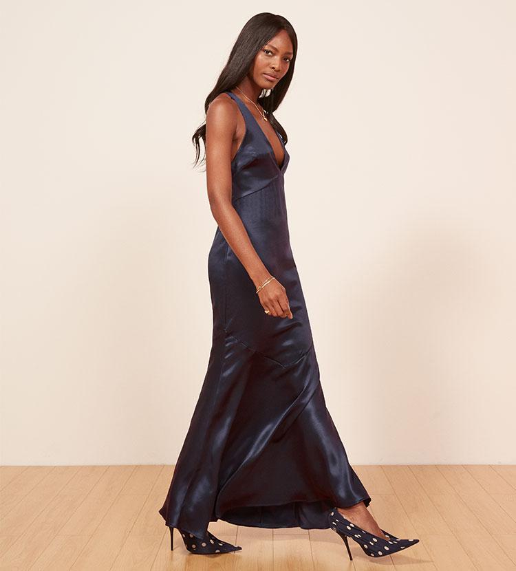 Lyst - Reformation Malibu Dress in Blue