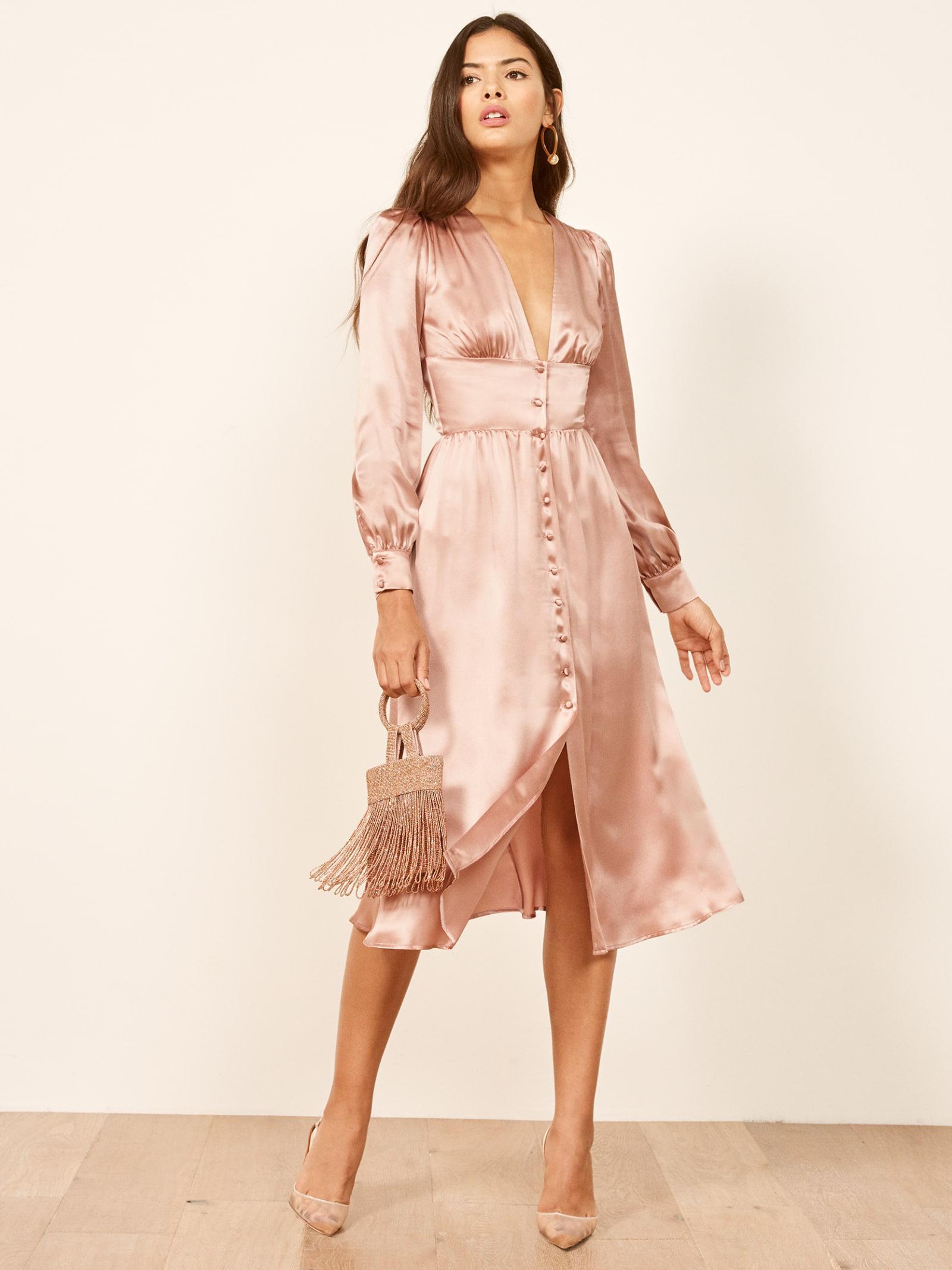 a5993f7b7d2 Reformation Nicola Dress in Pink - Lyst