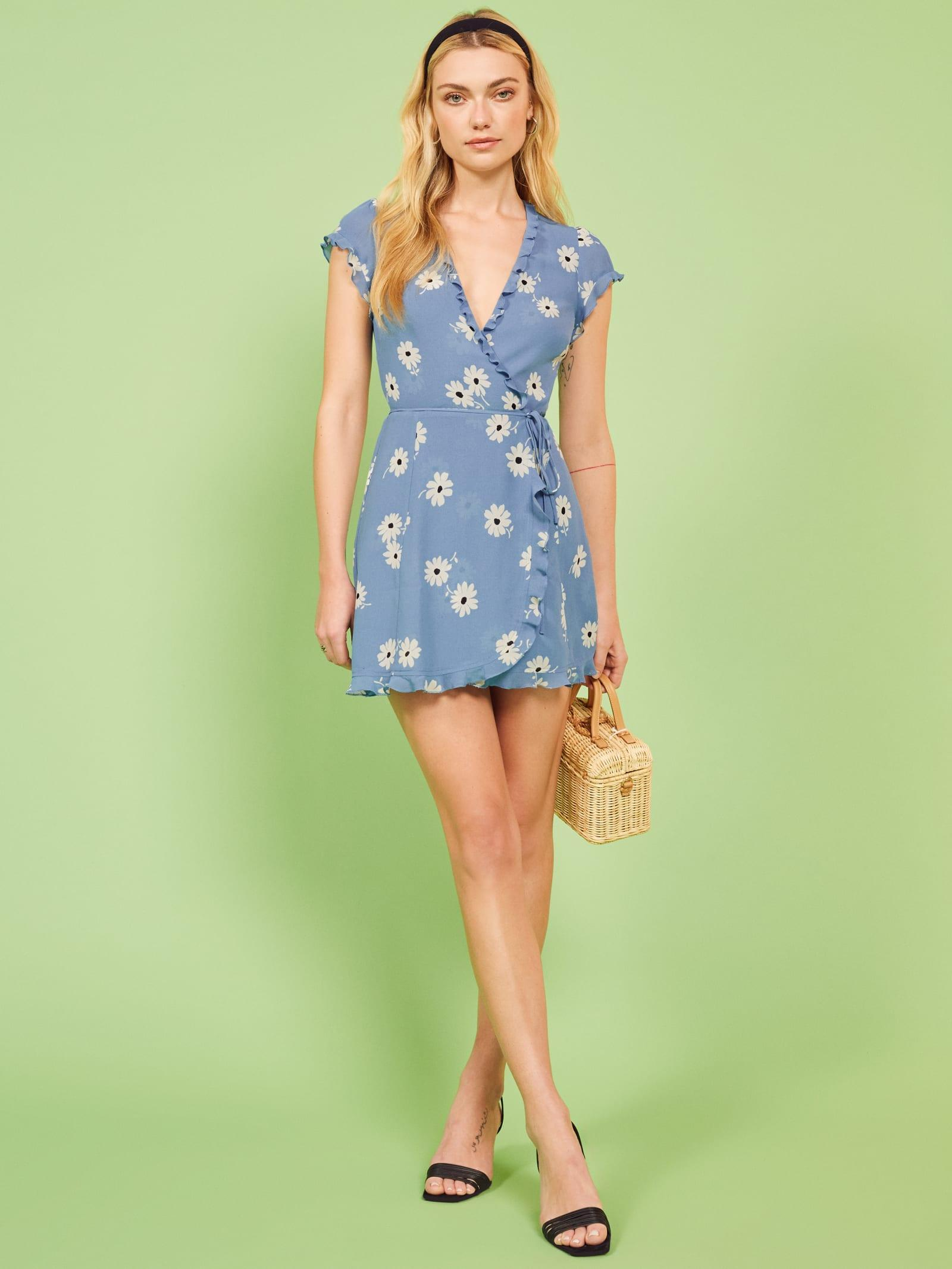 0cb02007861 Lyst - Reformation Sicilia Dress in Blue