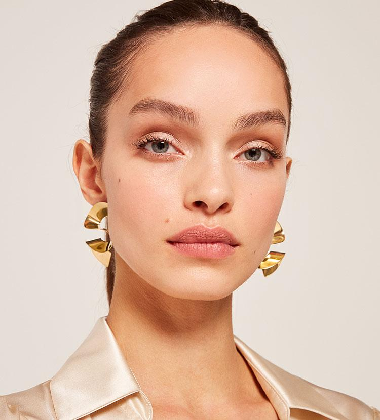 Soko Maxi Twisted Sia Studs Brass