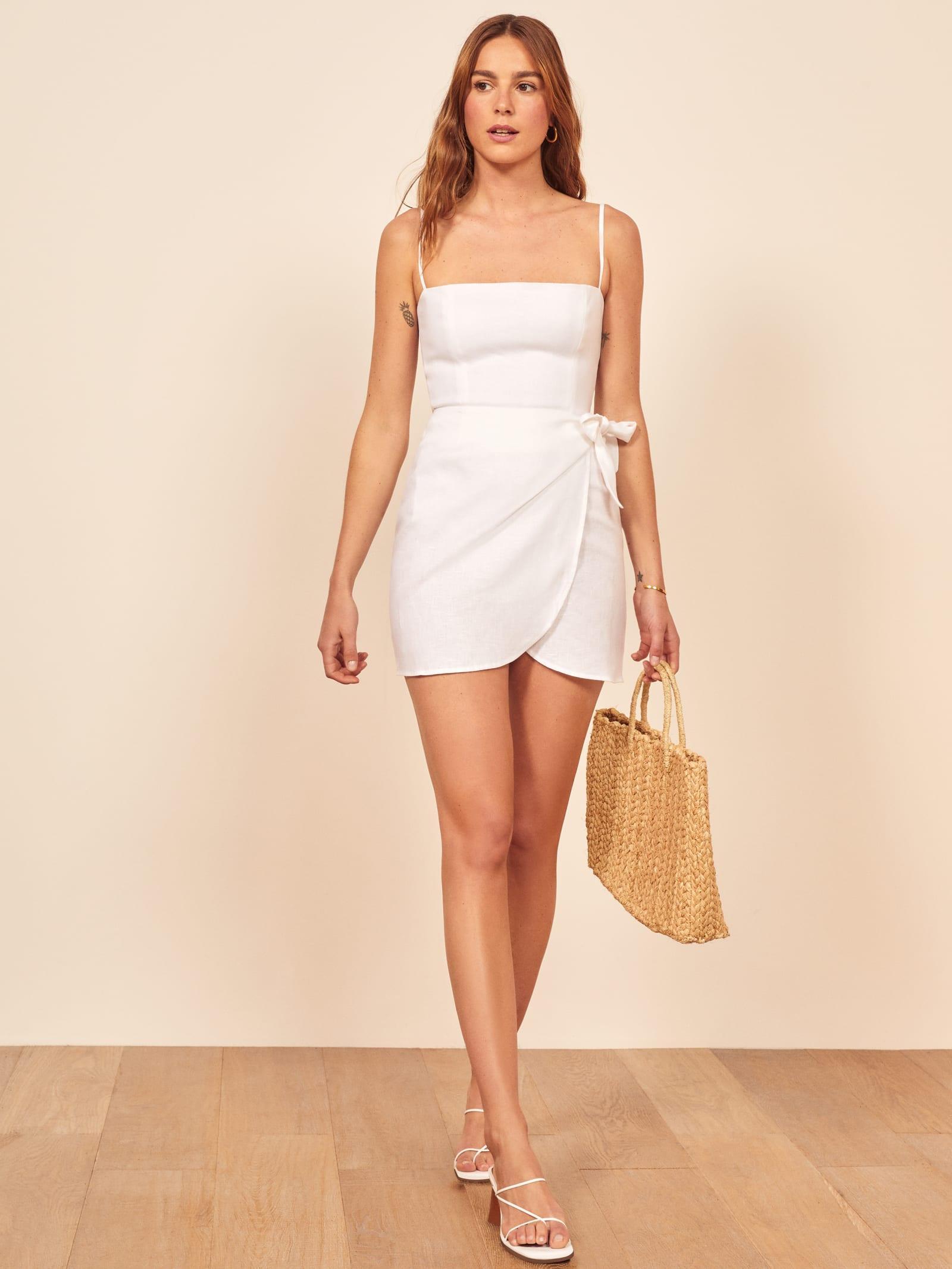 1627c8c028a Lyst - Reformation Marseilles Dress in White