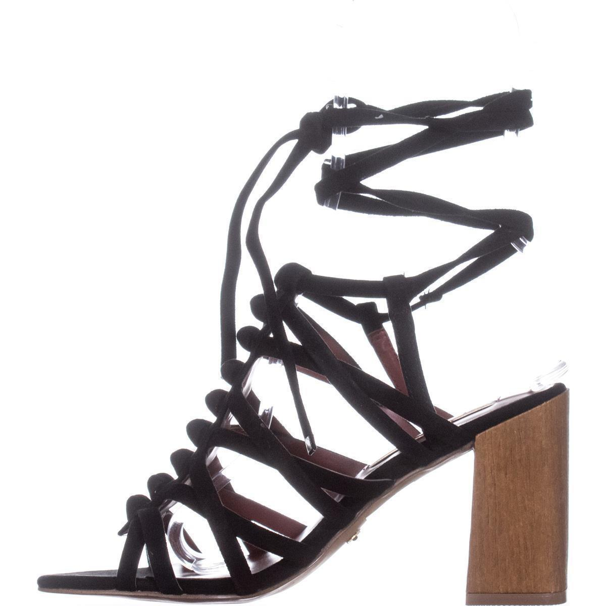 Lyst - Kensie Sadira Heeled Gladiator Sandals in Black