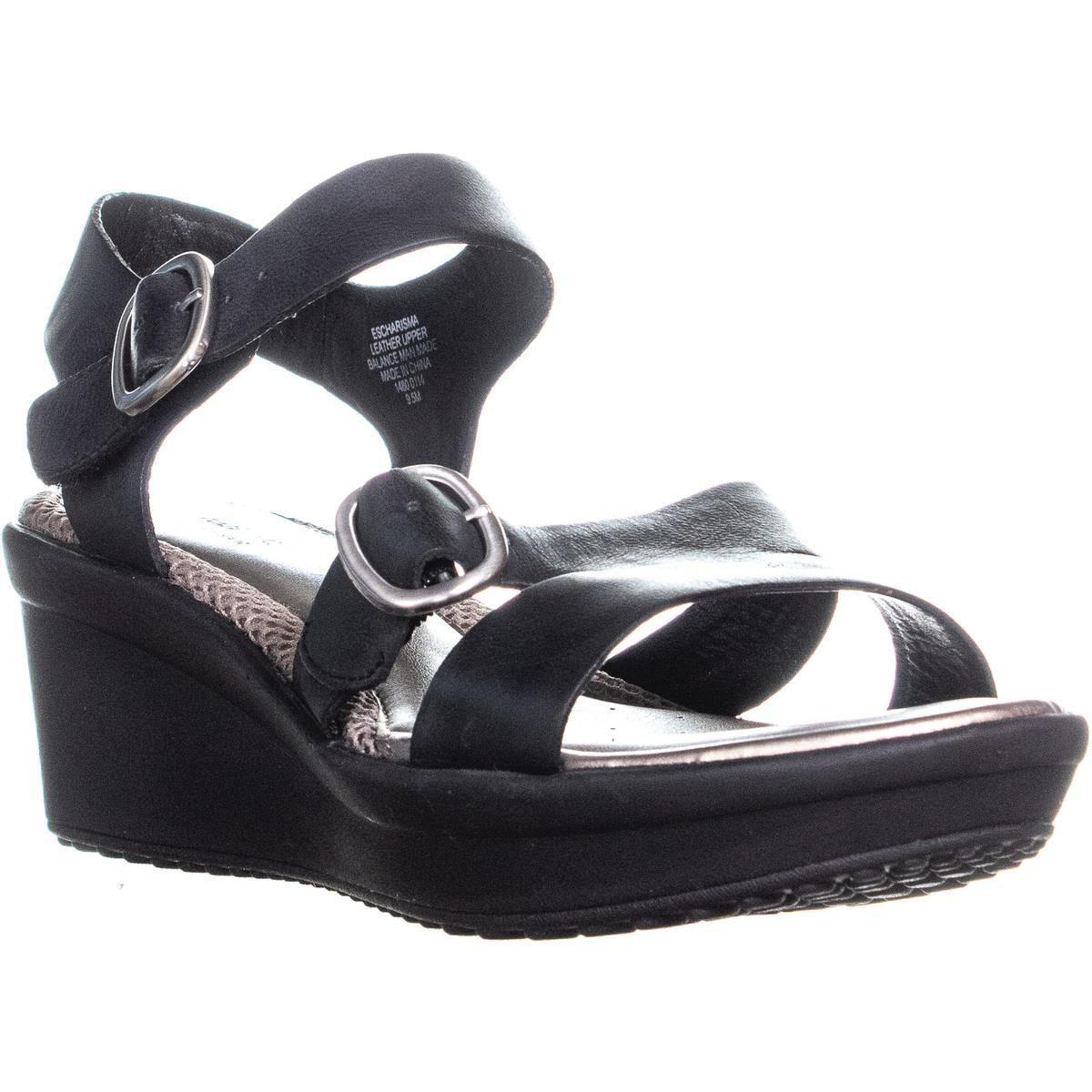 9f939c98351 Lyst - Easy Spirit Charisma Ankle Strap Comfort Wedge Sandals in Black