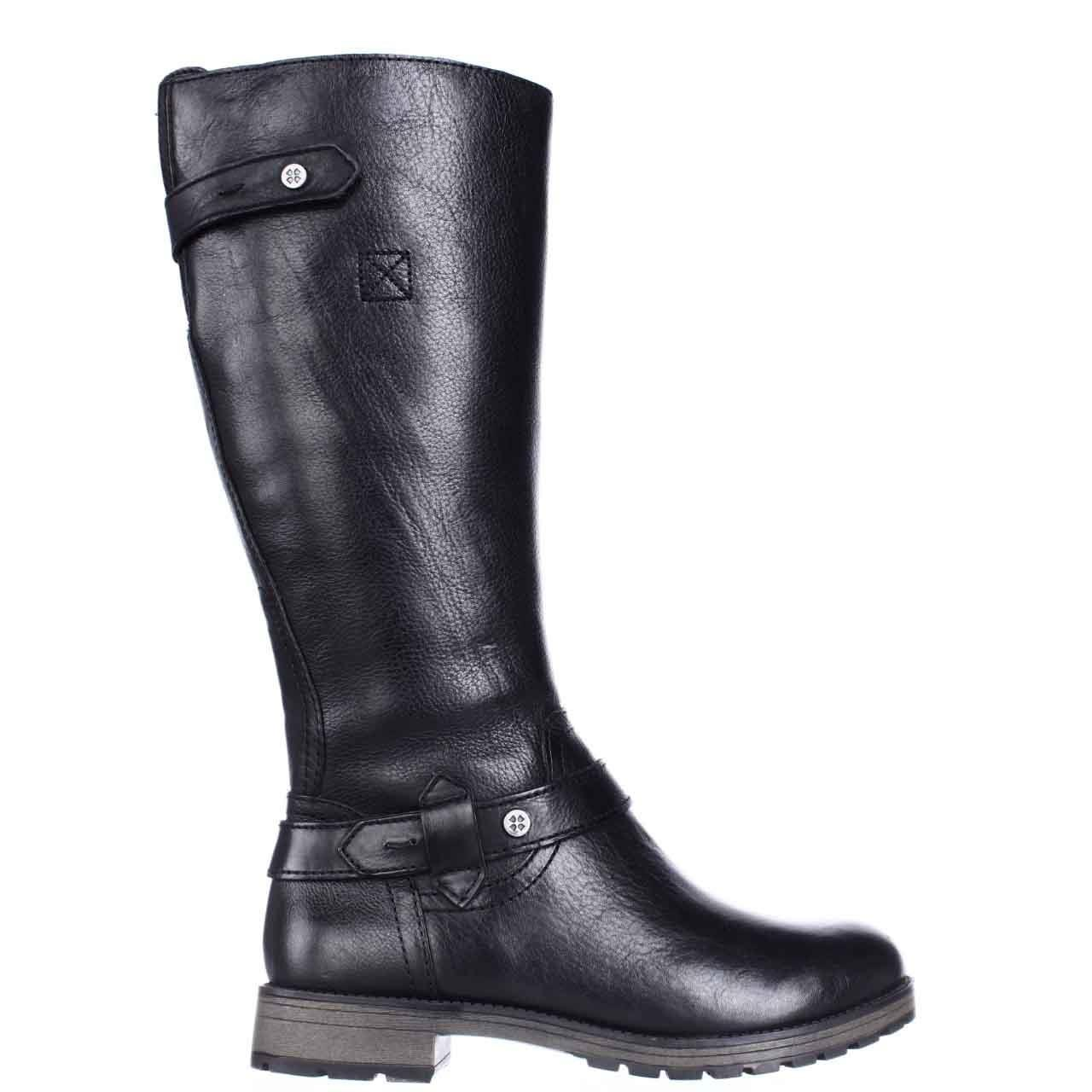 Naturalizer Tanita Wide Calf Lug Sole Riding Boots In