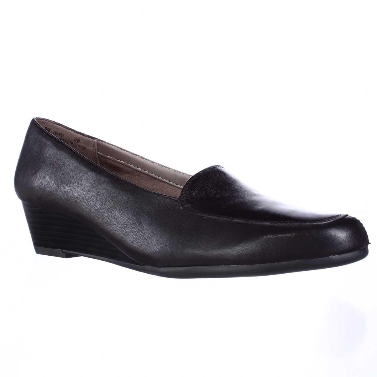Aerosoles Lovely Slip On Low Wedge Loafers In Brown Lyst