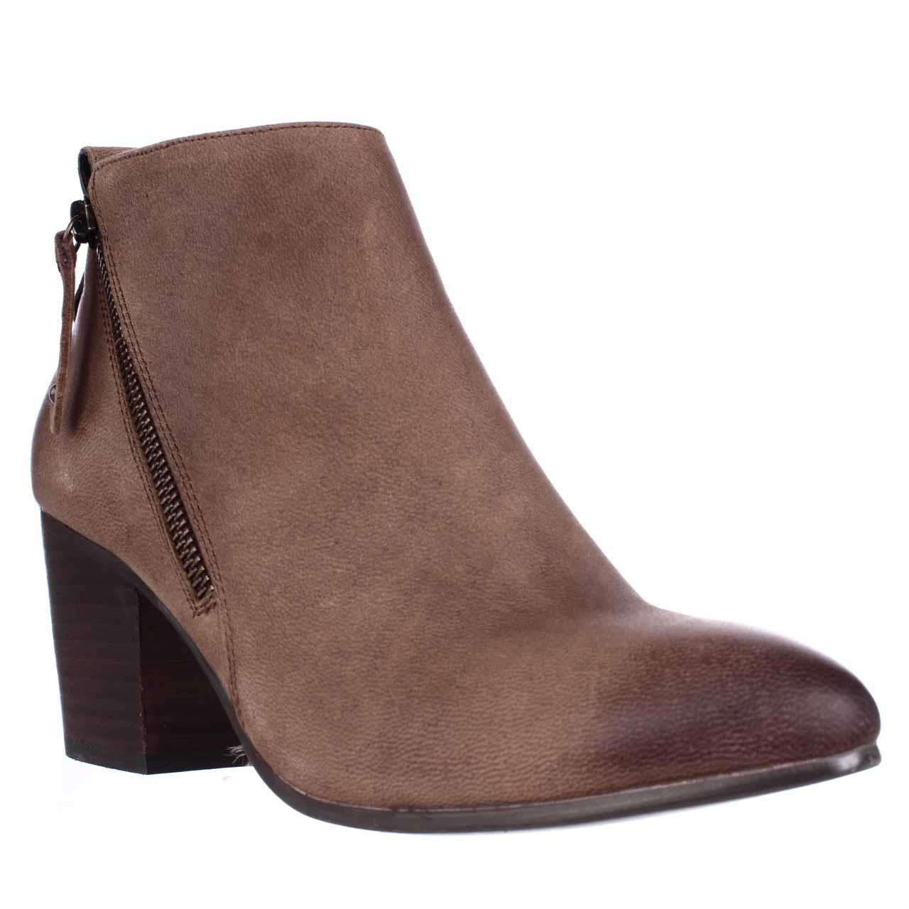 steve madden jaydun pointed toe ankle boots in brown lyst