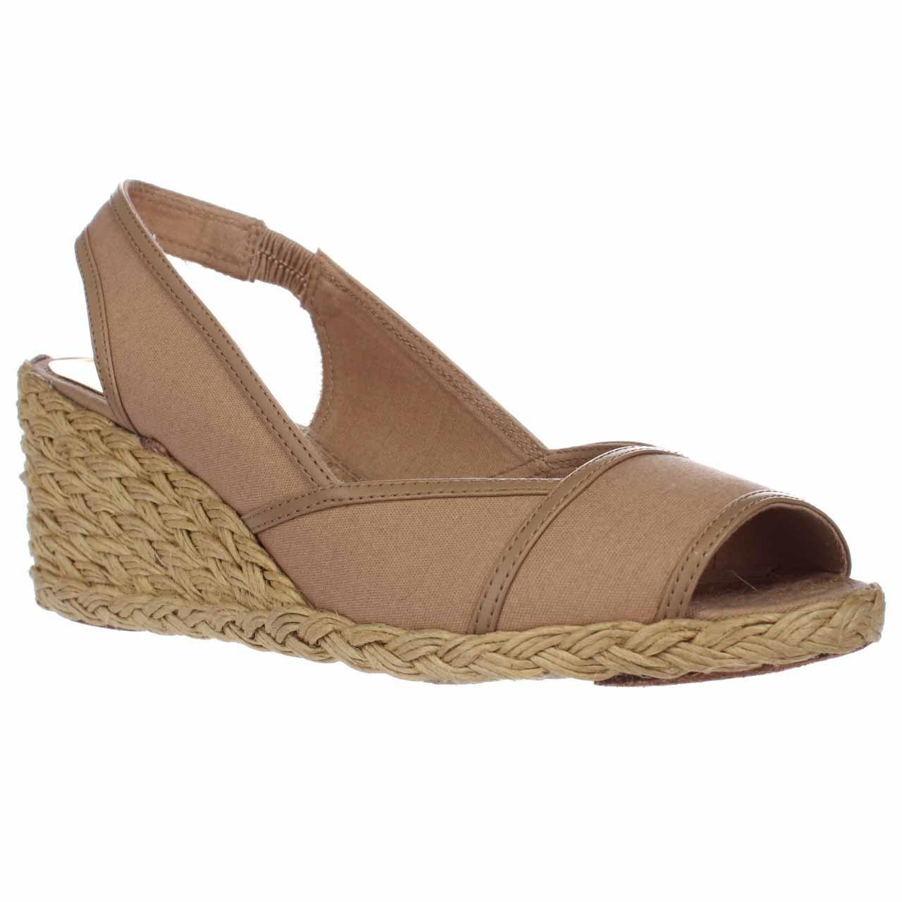 lauren by ralph lauren lauren ralph lauren catrin espadrille wedge sandals in natural lyst. Black Bedroom Furniture Sets. Home Design Ideas