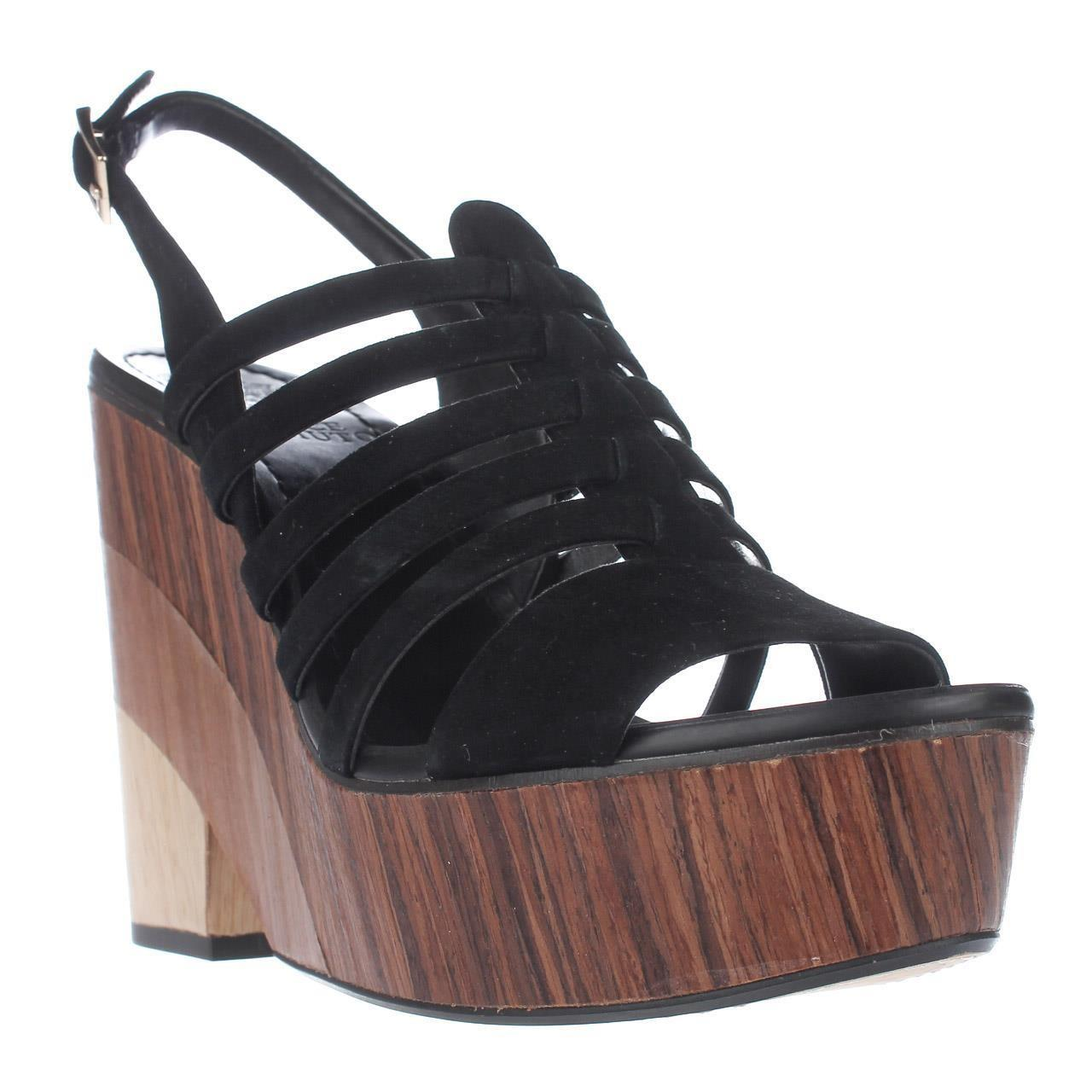 vince camuto onia platform strappy sandals in black lyst