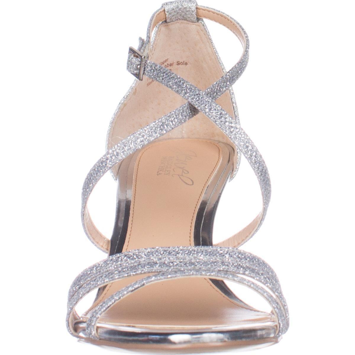 Badgley mischka Jewel Hunt Strappy Wedge Sandals in ...