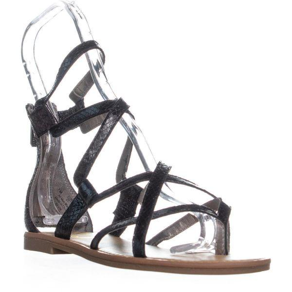 d7a9ed059 Sam Edelman Circus By Bevin Flat Sandal Gladiator Sandals in Black ...