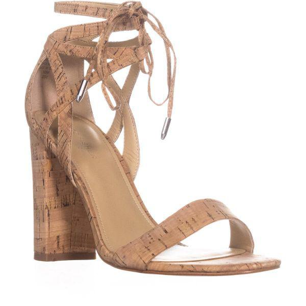7a239bb392f6 Marc Fisher Fatima Heeled Sandal in Natural - Save 10% - Lyst