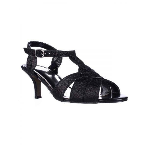 d747c87b4a1 Easy Street Glamorous Low-heel Dress Sandals in Black - Lyst