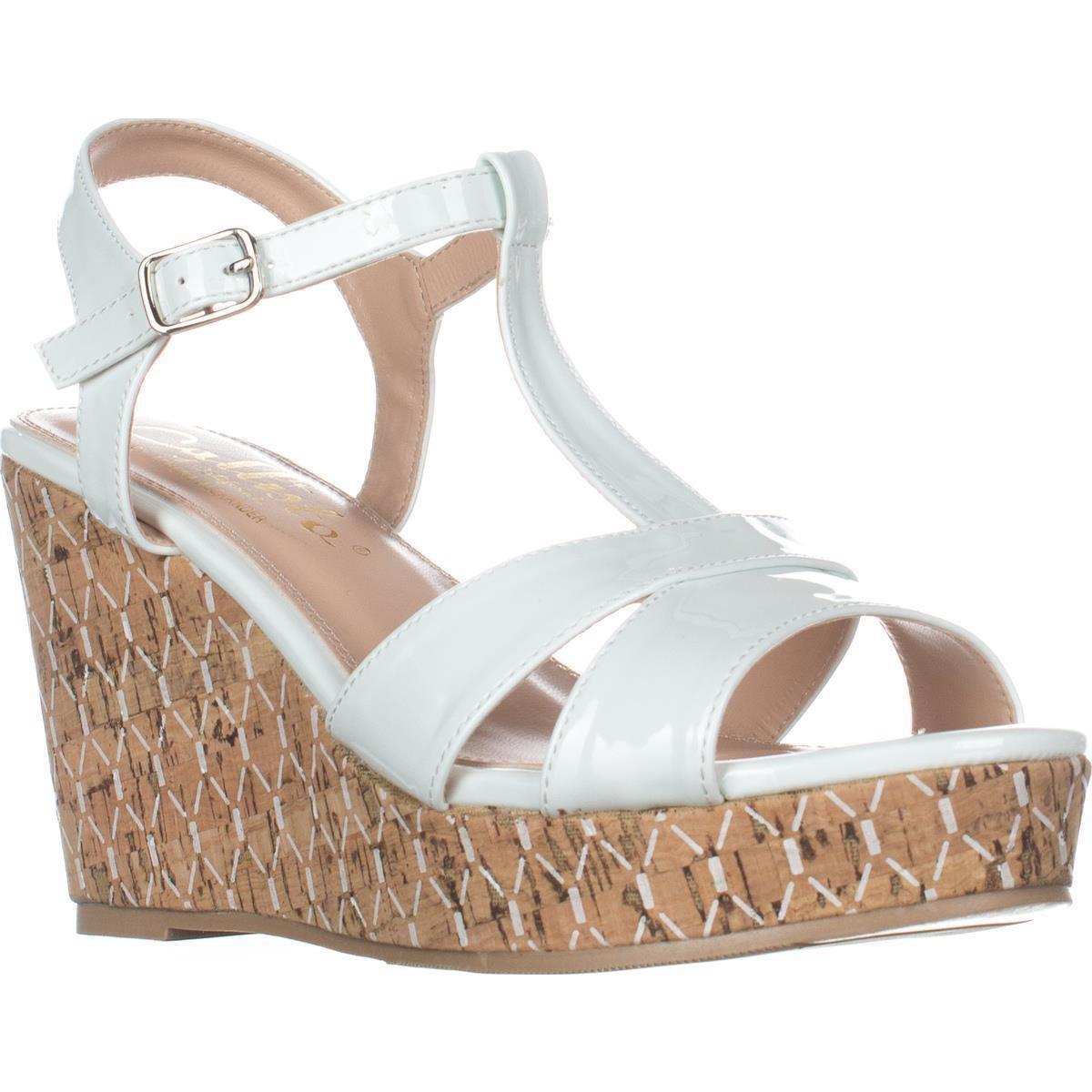 c5579c02fb9d Lyst - Callisto Aspenn T-strap Wedge Sandals in White