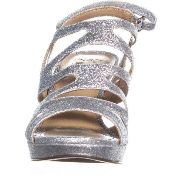 b83e7600e823 Naturalizer - Metallic Pressley Platform Strappy Dress Sandals - Lyst. View  fullscreen